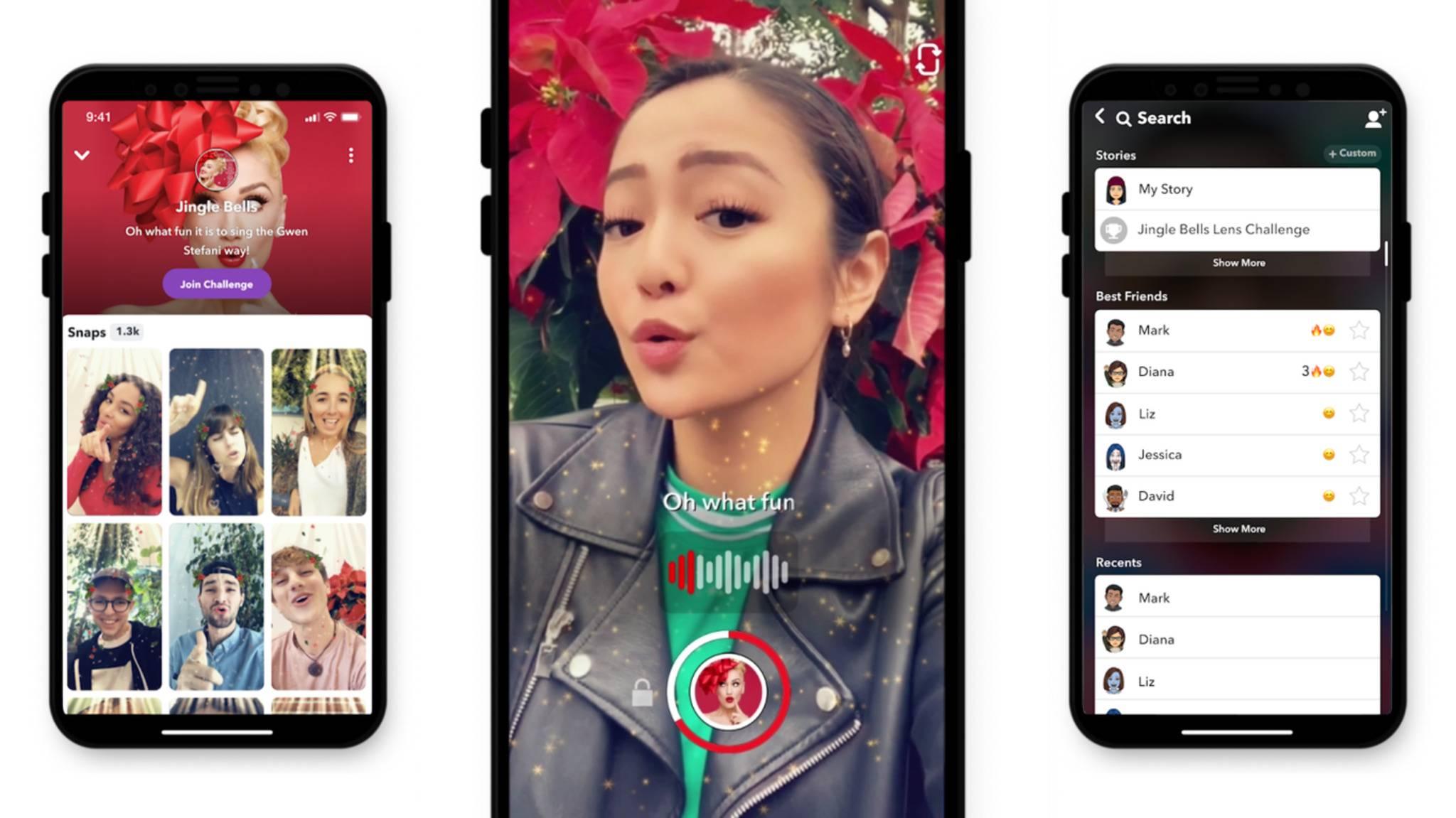 Karaoke gehört zu den neuen Herausforderungen in Snapchat.