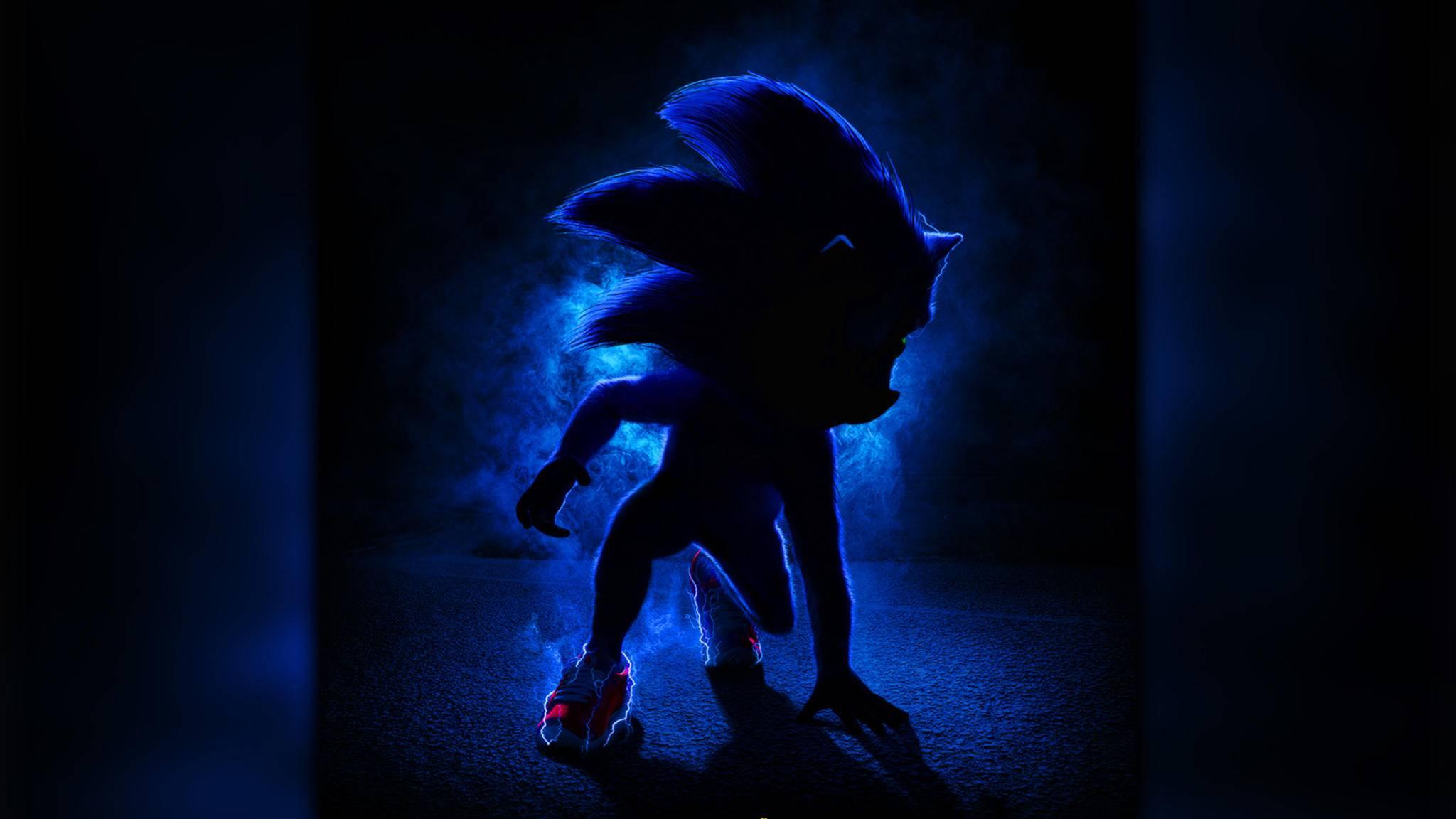 Mit Überschallgeschwindigkeit rast Sonic aufs erste Kinoplakat.