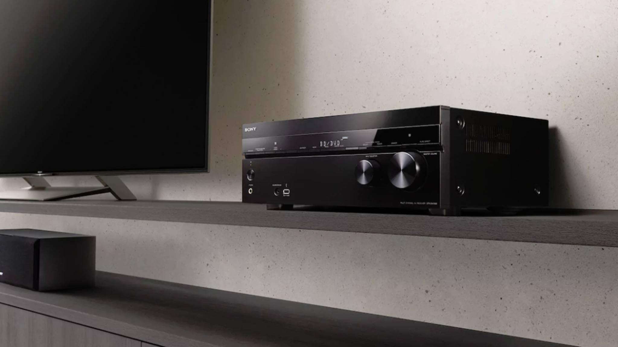 Erst mit einem AV-Receiver wie dem Sony STR-DN1080 ist das Heimkino komplett.