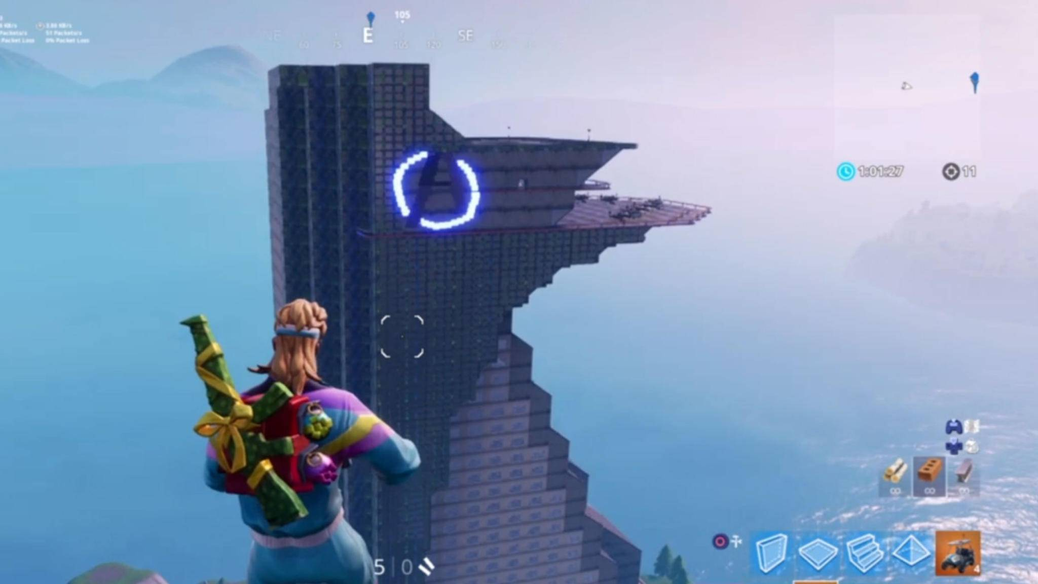 Fortnite Gigantisch Fan Baut Avengers Tower Im Kreativmodus Nach