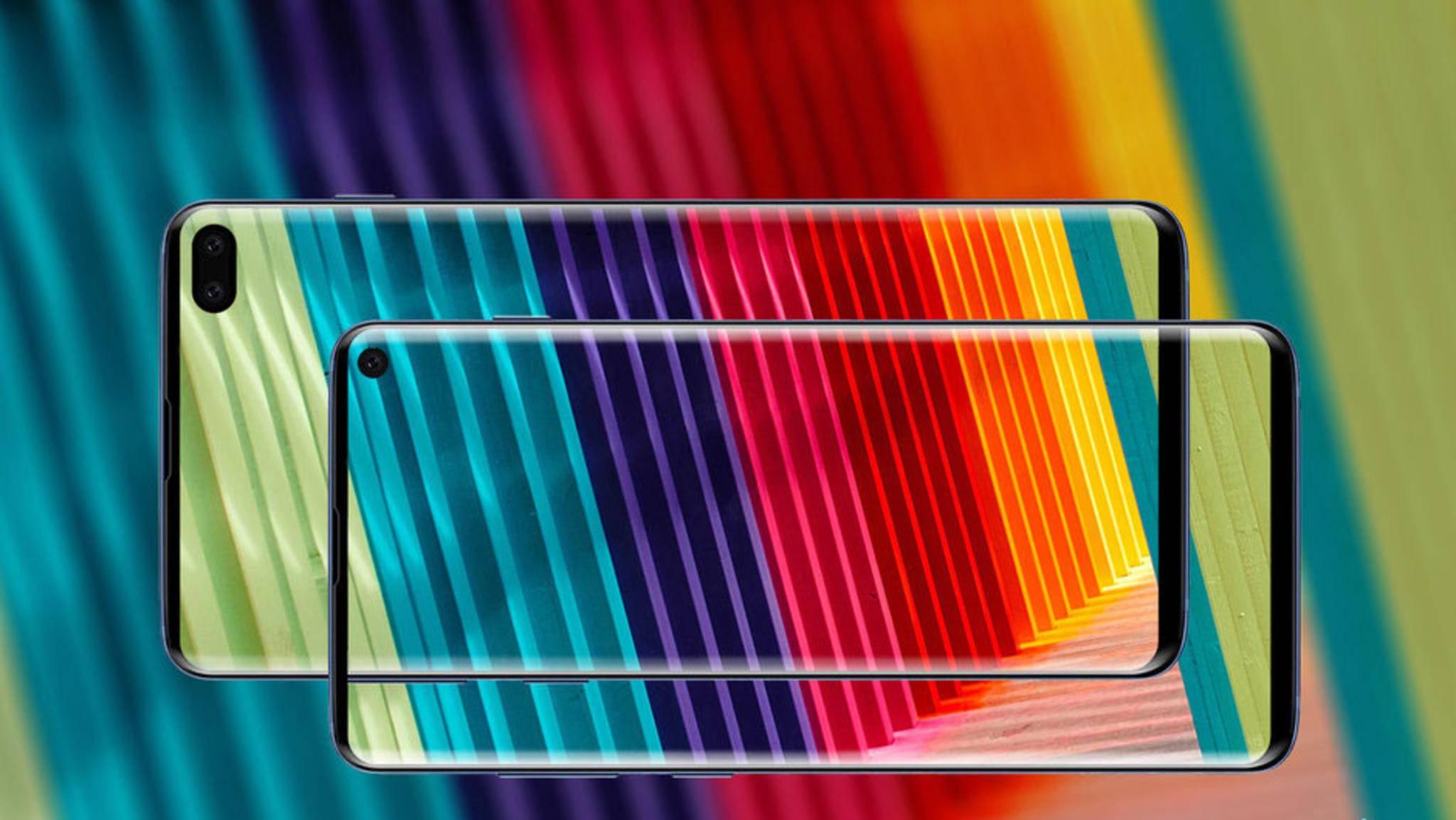 Ein Render-Bild des Galaxy S10, das auf Basis von Leaks und Gerüchten angefertigt wurde.