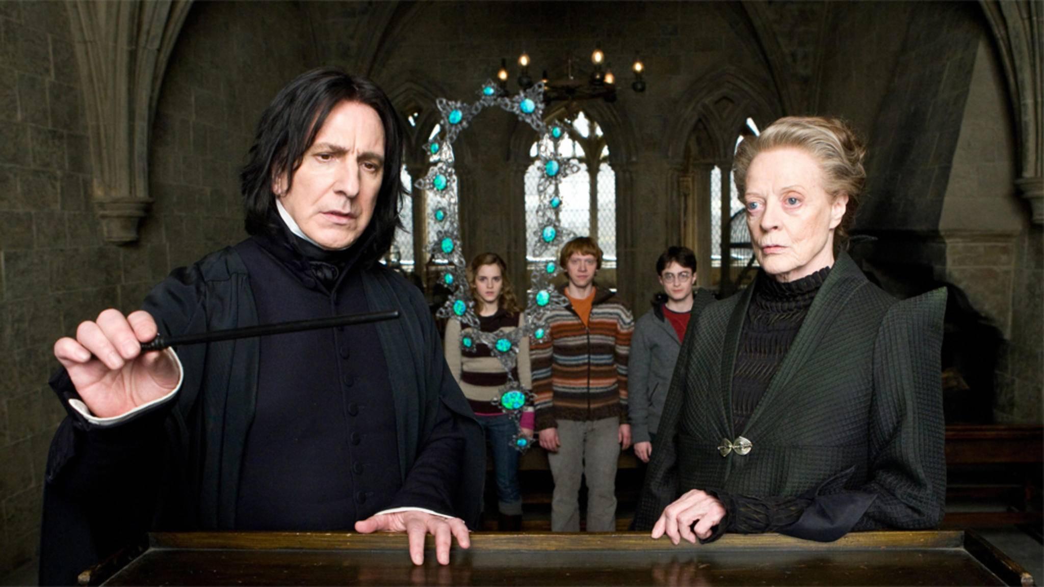 Professor Snape im Einsatz: Der Unterricht in Hogwarts ist immer spannend.