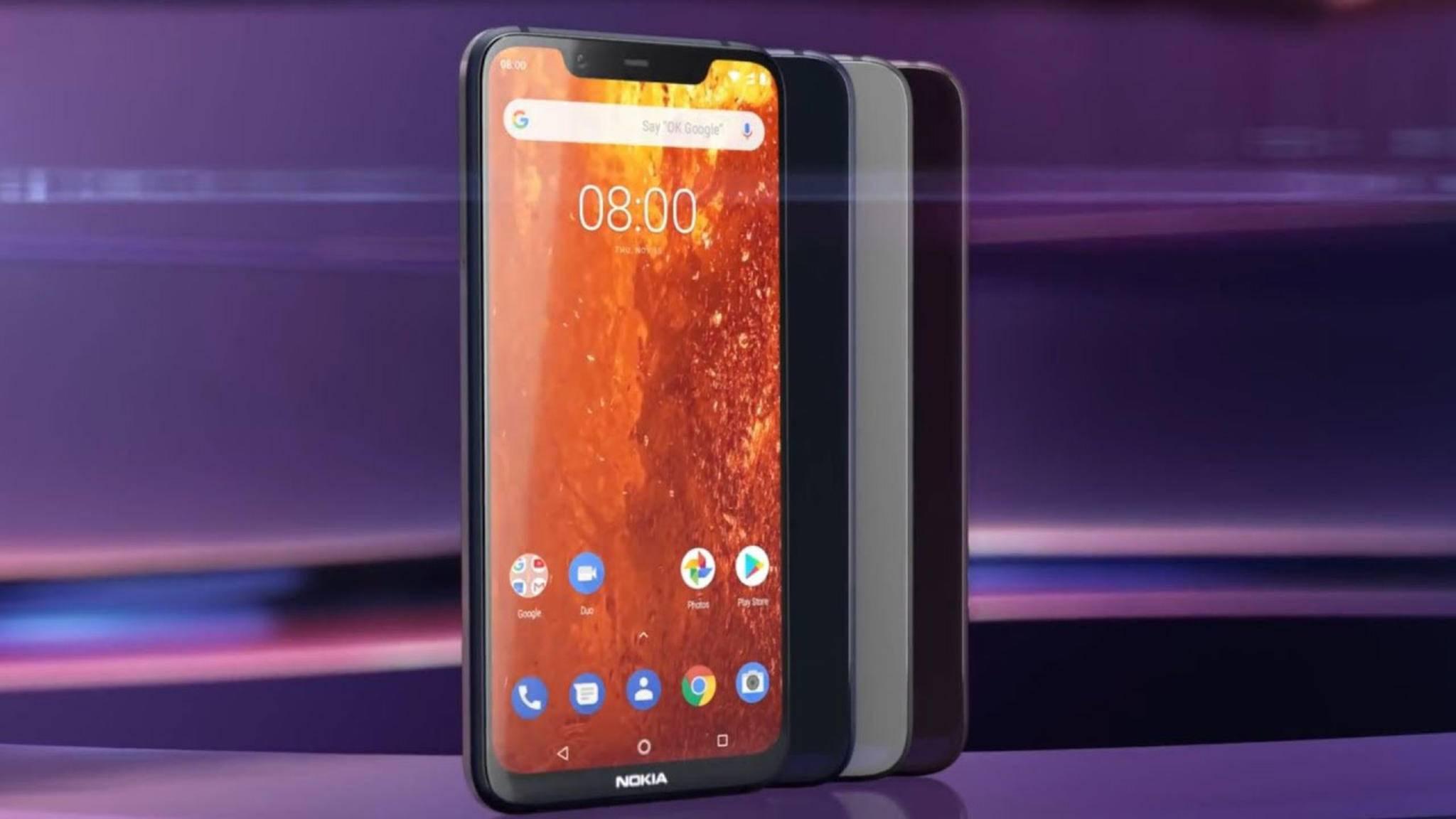 Das Nokia 8.1 gibt es ab Mitte Dezember im Handel zu kaufen.