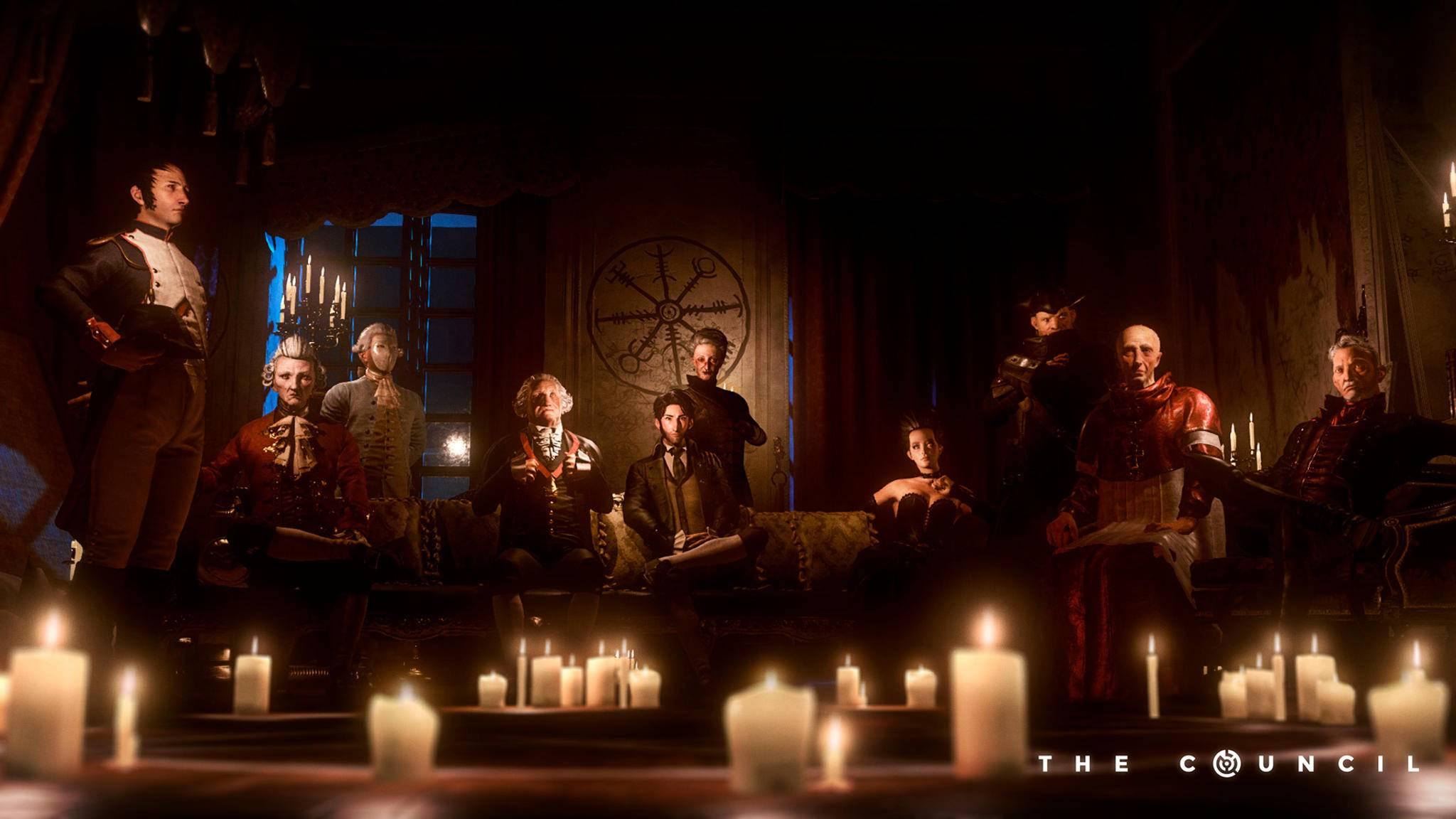 """Flackernde Kerzen, düstere Blicke und zehn mysteriöse Gestalten: Willkommen zu """"The Council""""!"""
