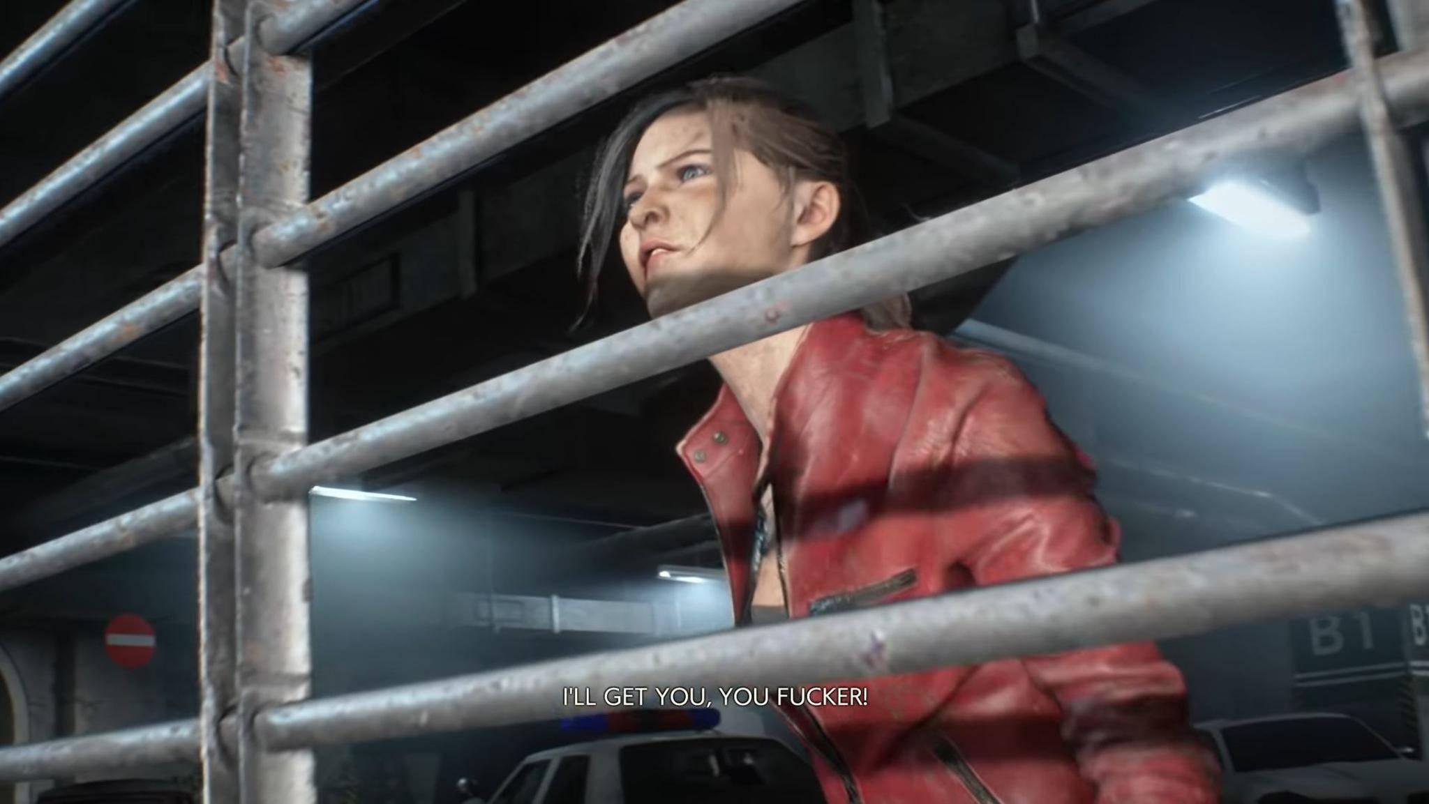 """Lieber hinter Gittern, als von Zombies angenagt zu werden: In der """"Resident Evil 2""""-Demo ist es selbst bei der Polizei nicht sicher."""