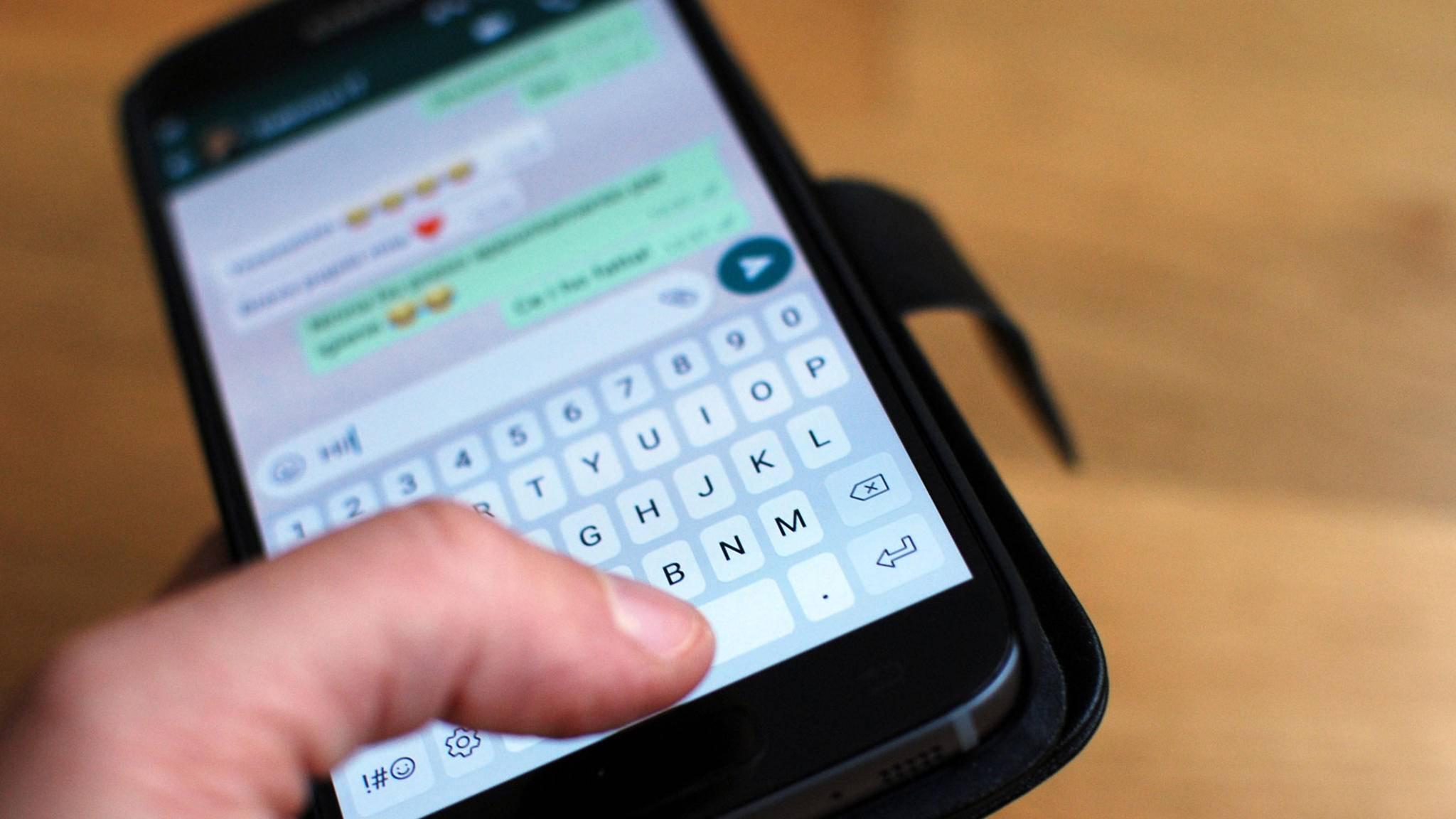 Der Zugriff auf Chats lässt sich zukünftig womöglich per Fingerabdruck absichern.