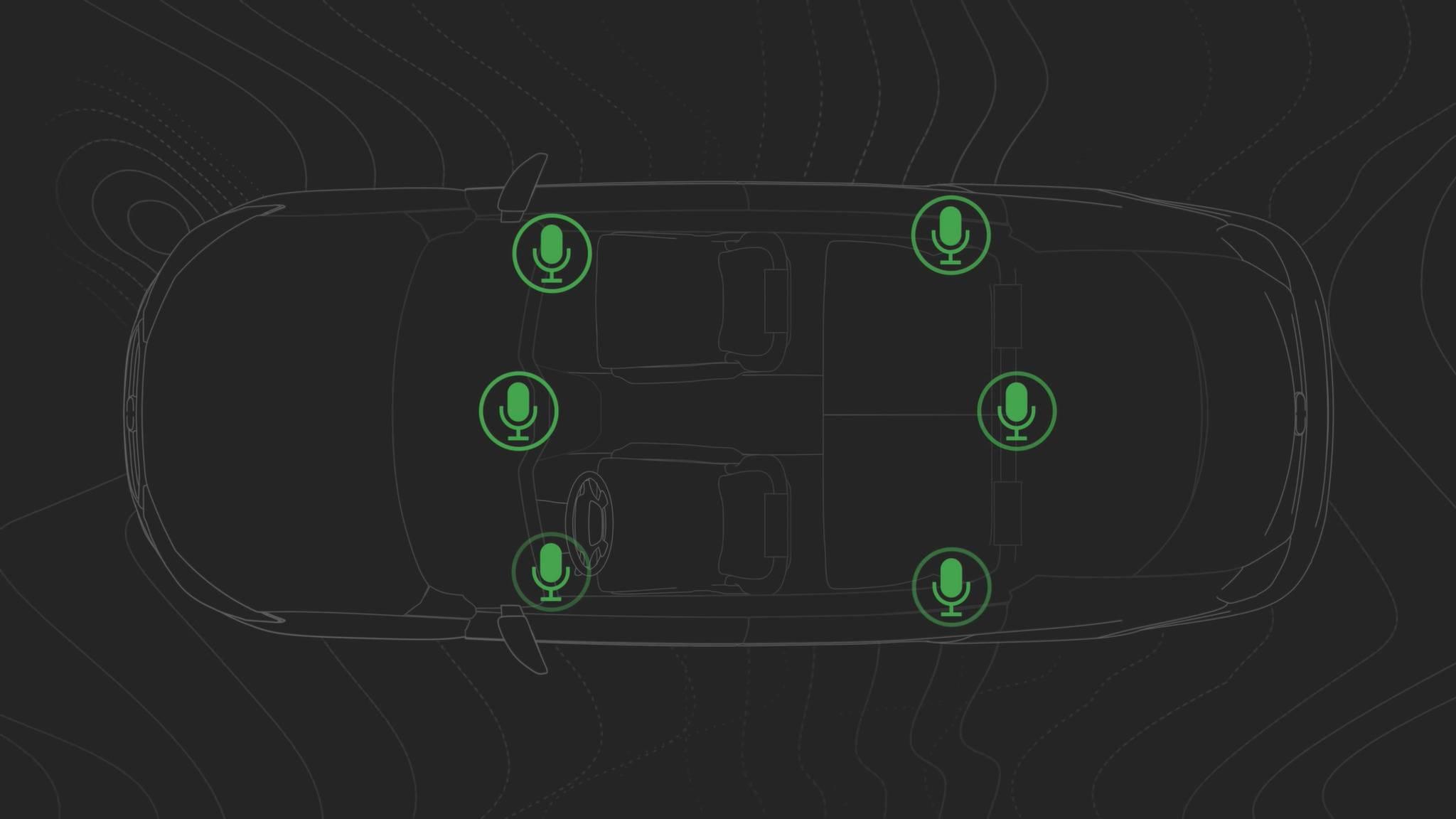 Mikrofone helfen bei der Lärmunterdrückung im Inneren von Autos.