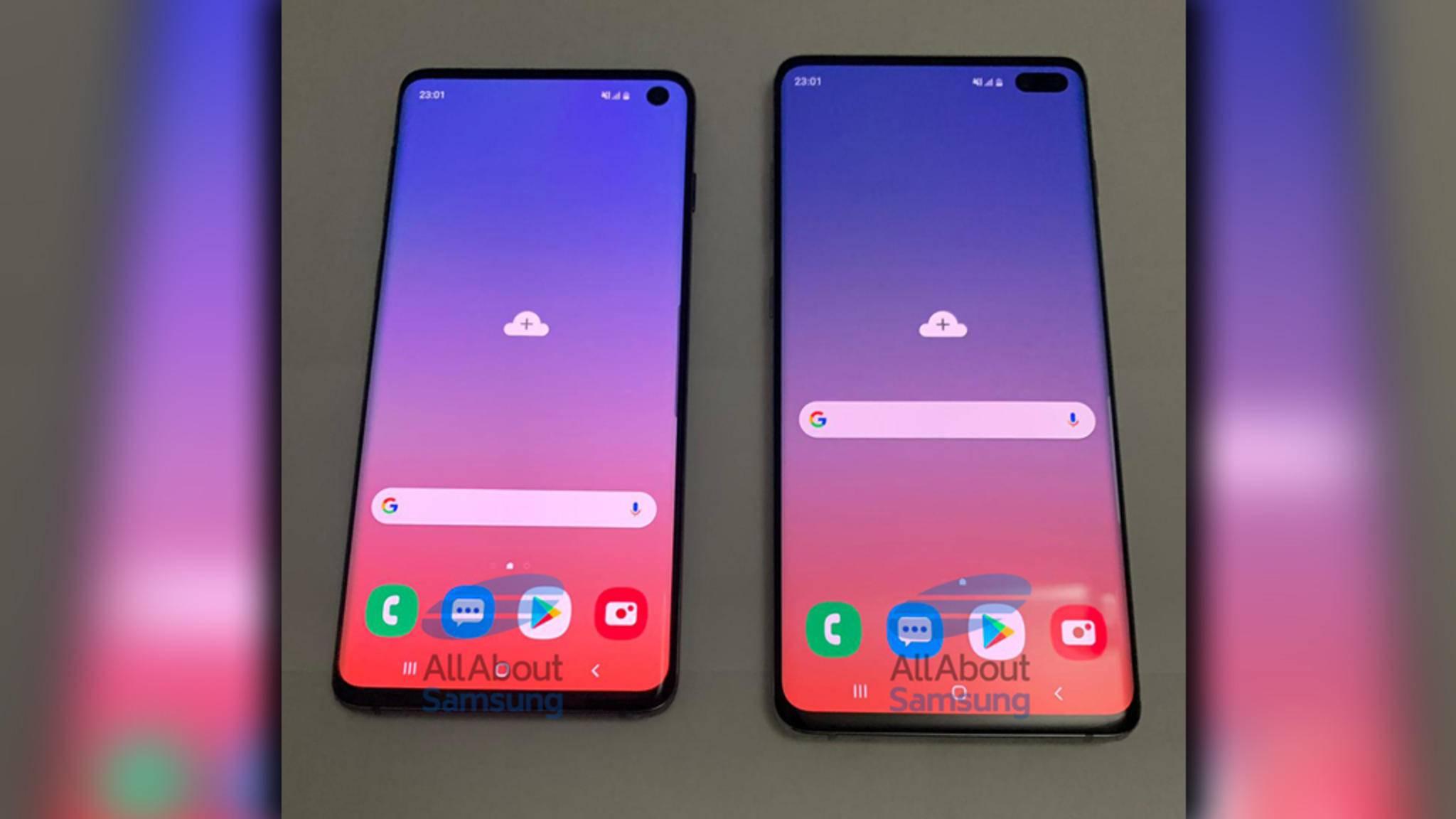 Das Galaxy S10 (links) und das Galaxy S10 Plus (rechts) von Samsung.