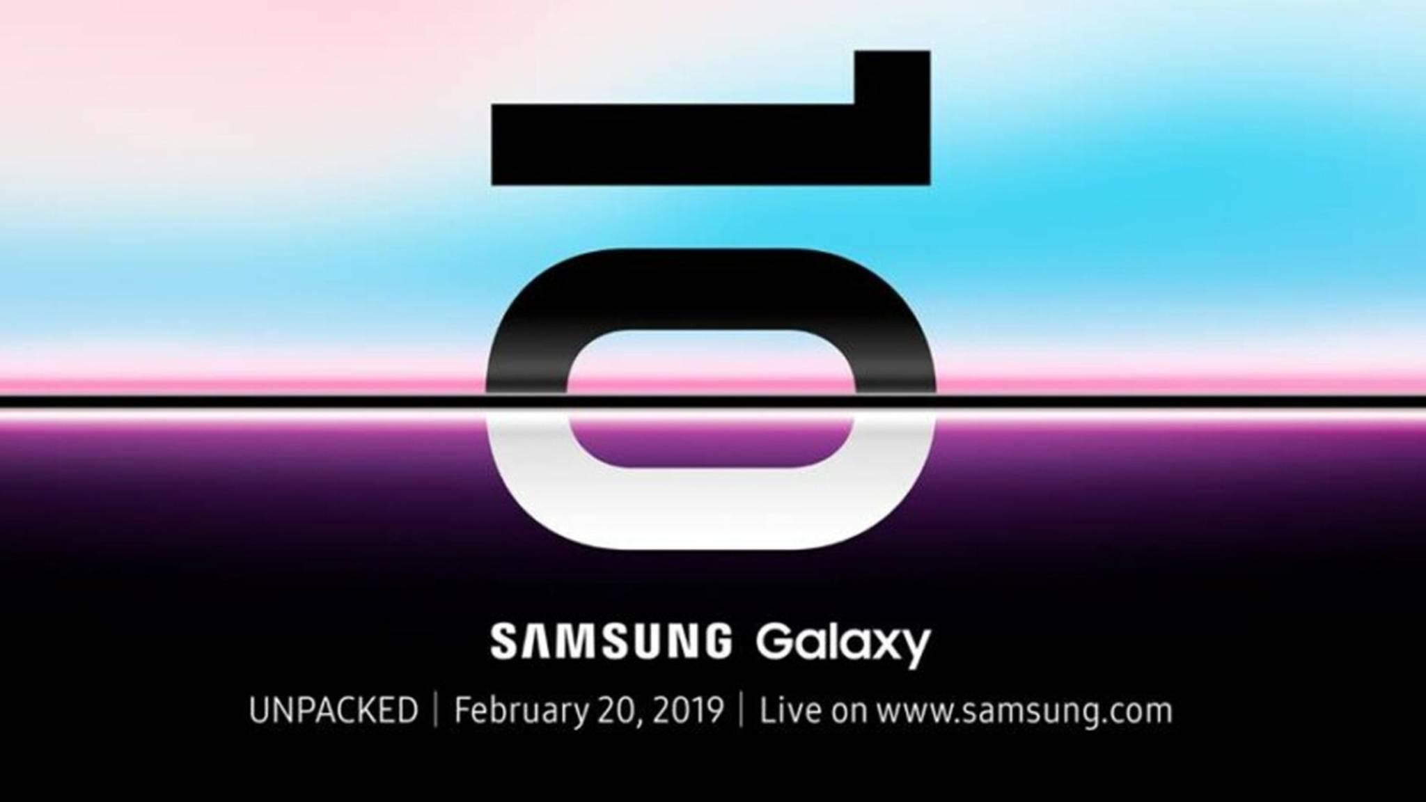 Am 20. Februar wird das Samsung Galaxy S10 enthüllt.