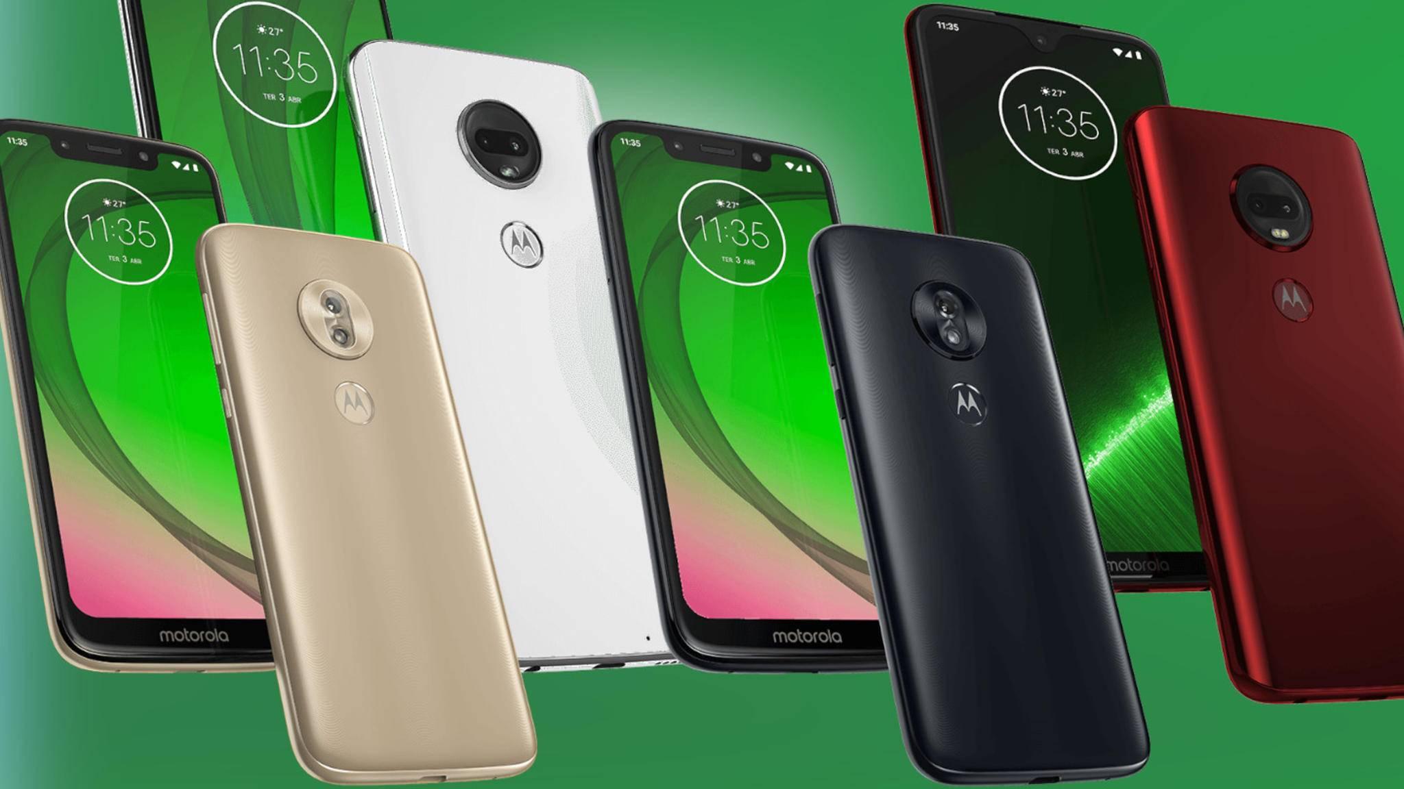 Zur neuen Moto-G7-Serie zählen vier verschiedene Smartphones.