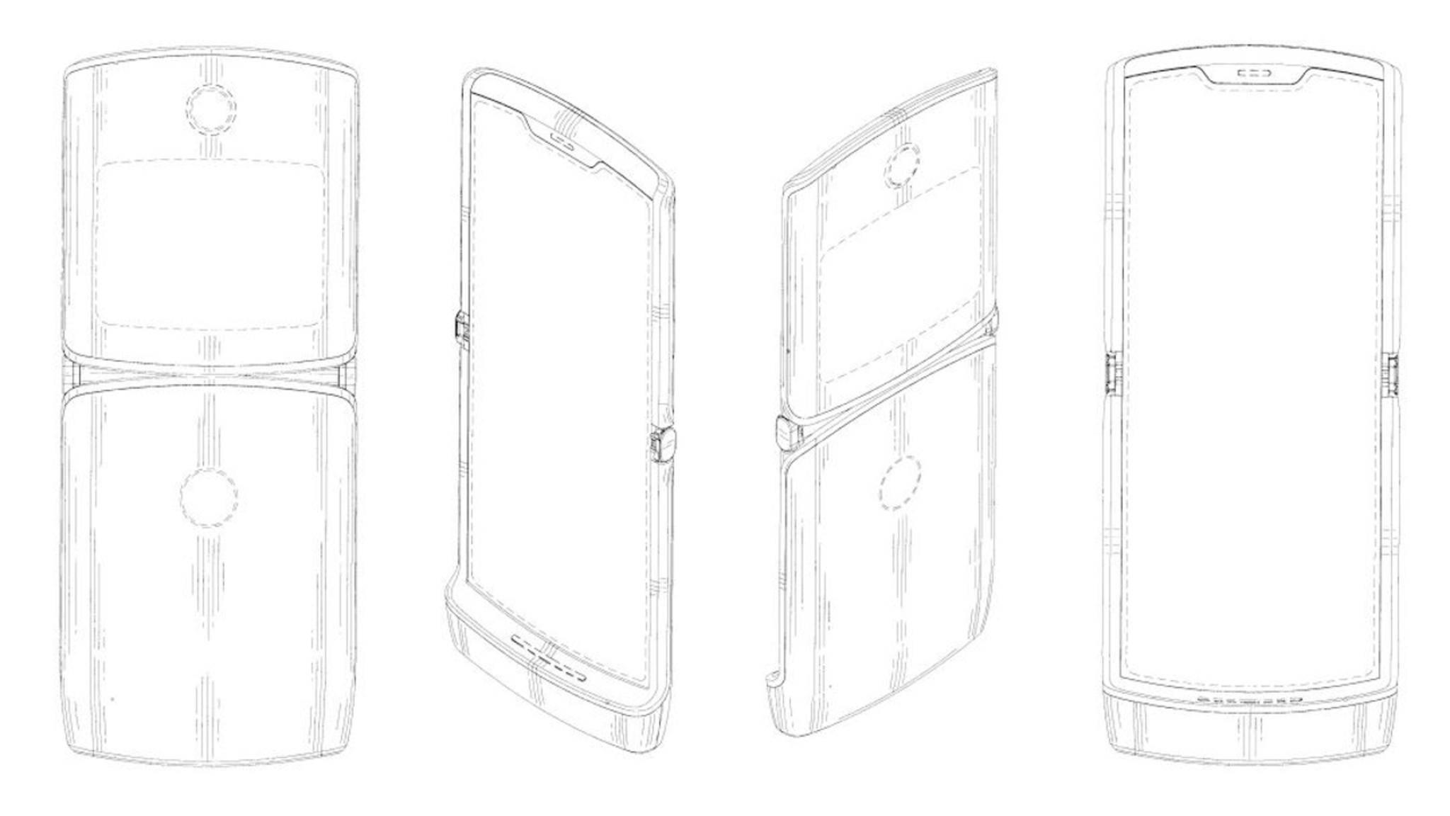 Motorola hat dieses Design seines faltbaren Handys als zutreffend bestätigt.