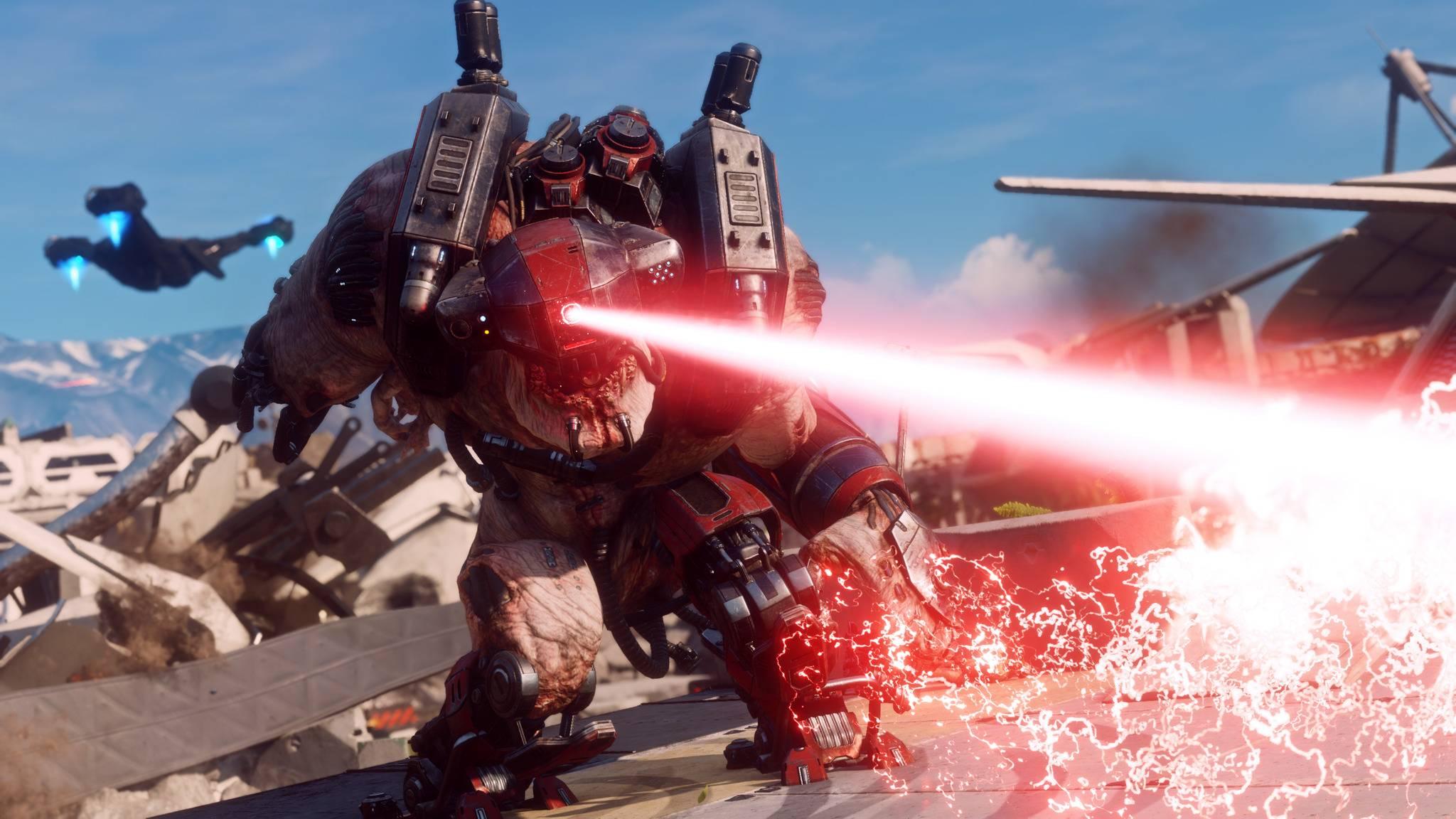 """Nur mit den richtigen Upgrades bestehst Du in """"Rage 2"""" gegen schwerere Gegner."""