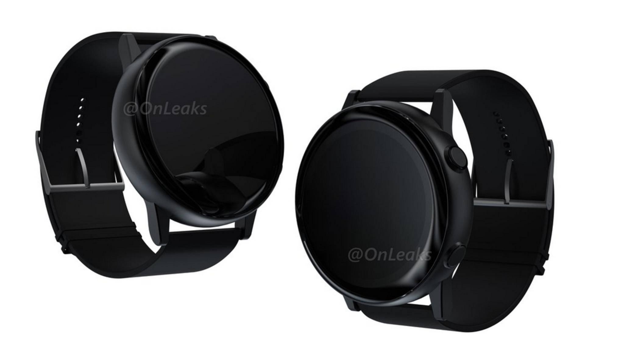 So soll die neue Samsung Galaxy Watch Active aussehen.