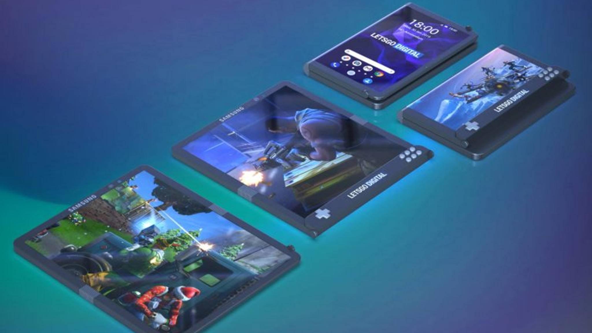 So stellt sich Samsung ein faltbares Gaming-Smartphone vor.