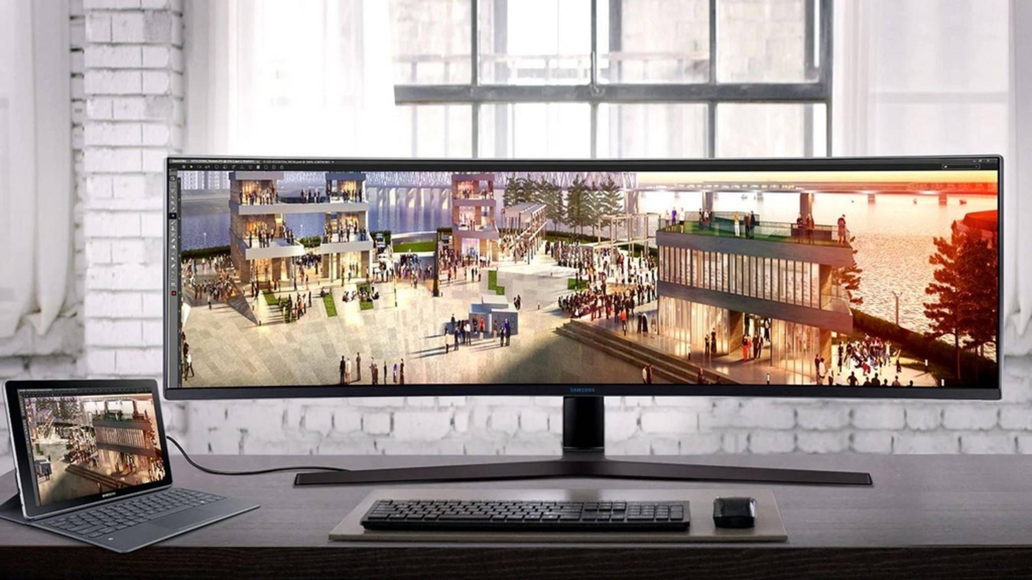 Immer mehr Monitore unterstützen auch USB-C.