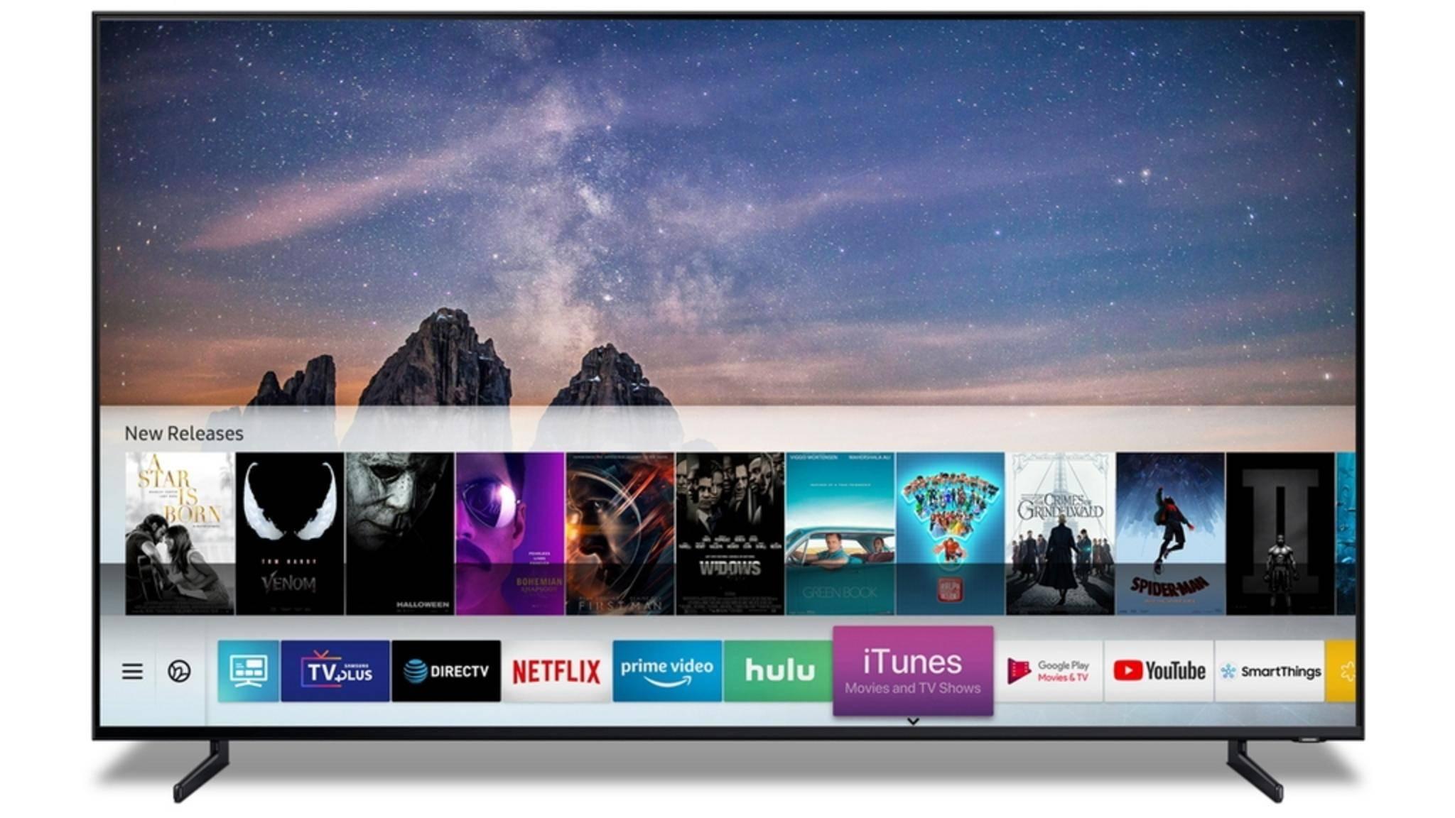 iTunes landet auf den Samsung-TVs.