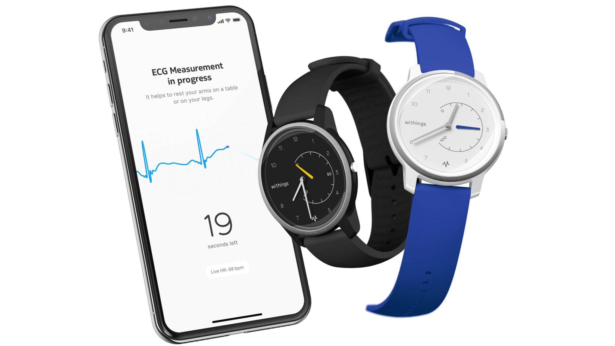 Withings' neue analoge Smartwatch liefert nun auch EKG-Daten.