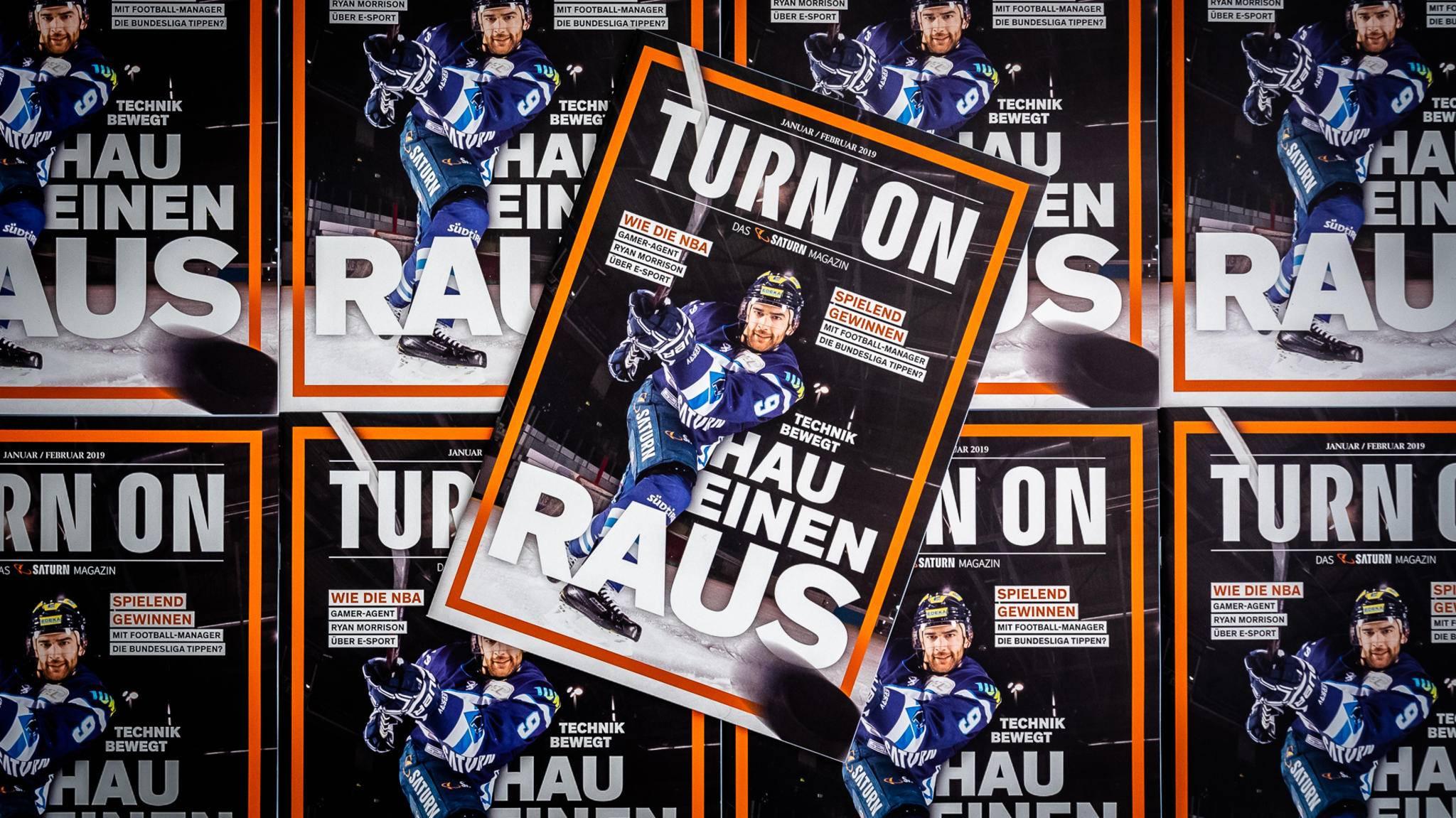 Treffsicher: In der aktuellen Ausgabe des TURN ON Magazins gibt es weitere Infos zum ERC Ingolstadt.