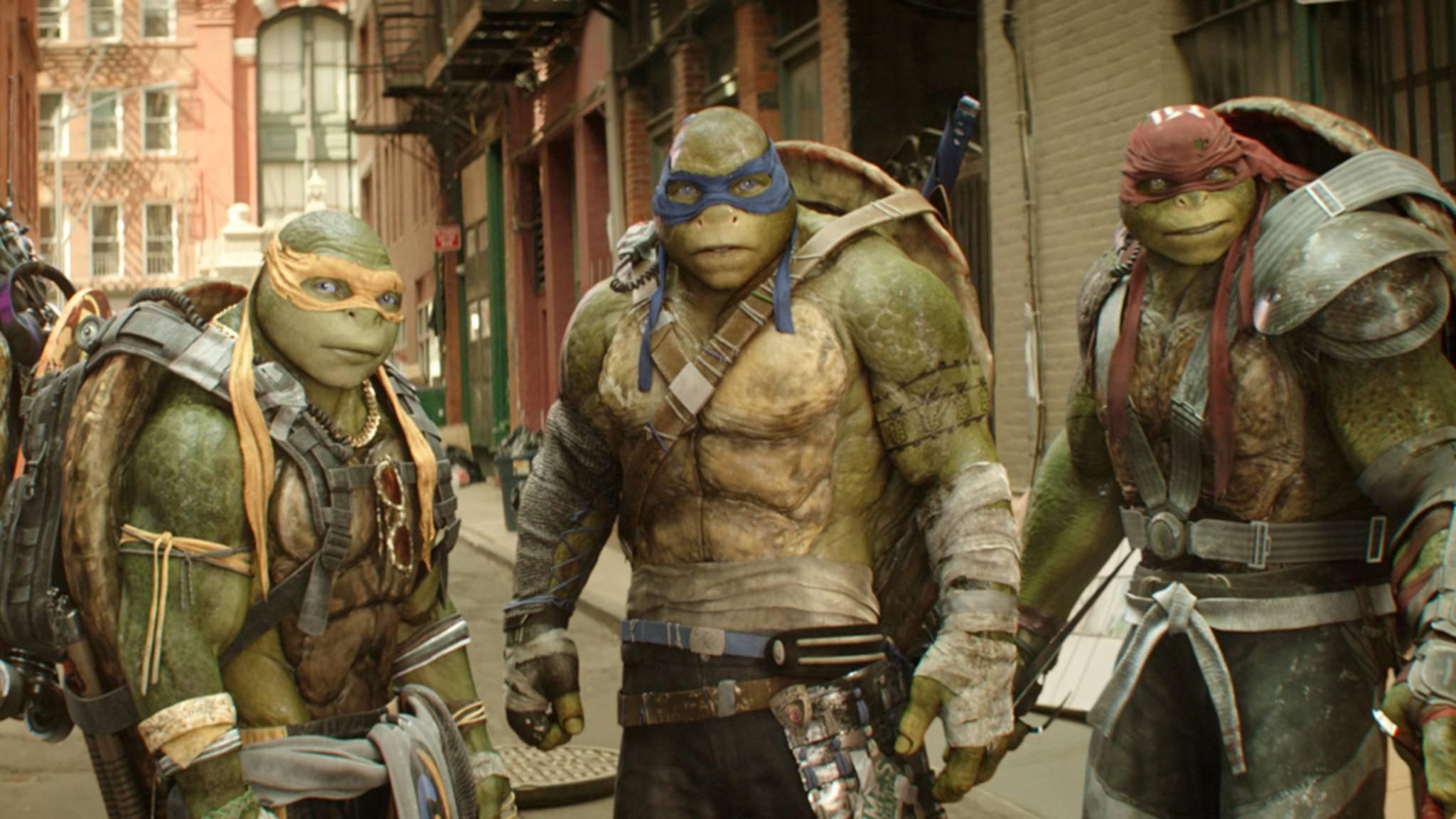 """Die """"Teenage Mutant Ninja Turtles"""" kehren zurück auf die große Leinwand."""