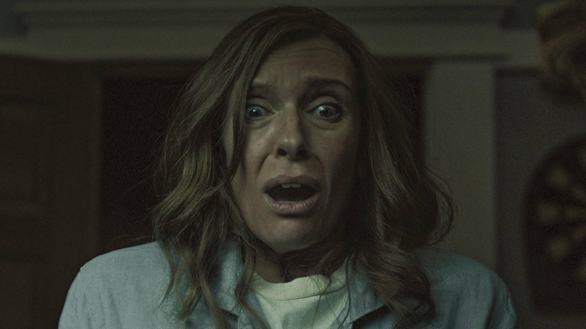 Den panischen Gesichtsausdruck hat Toni Collette auf jeden Fall drauf ...