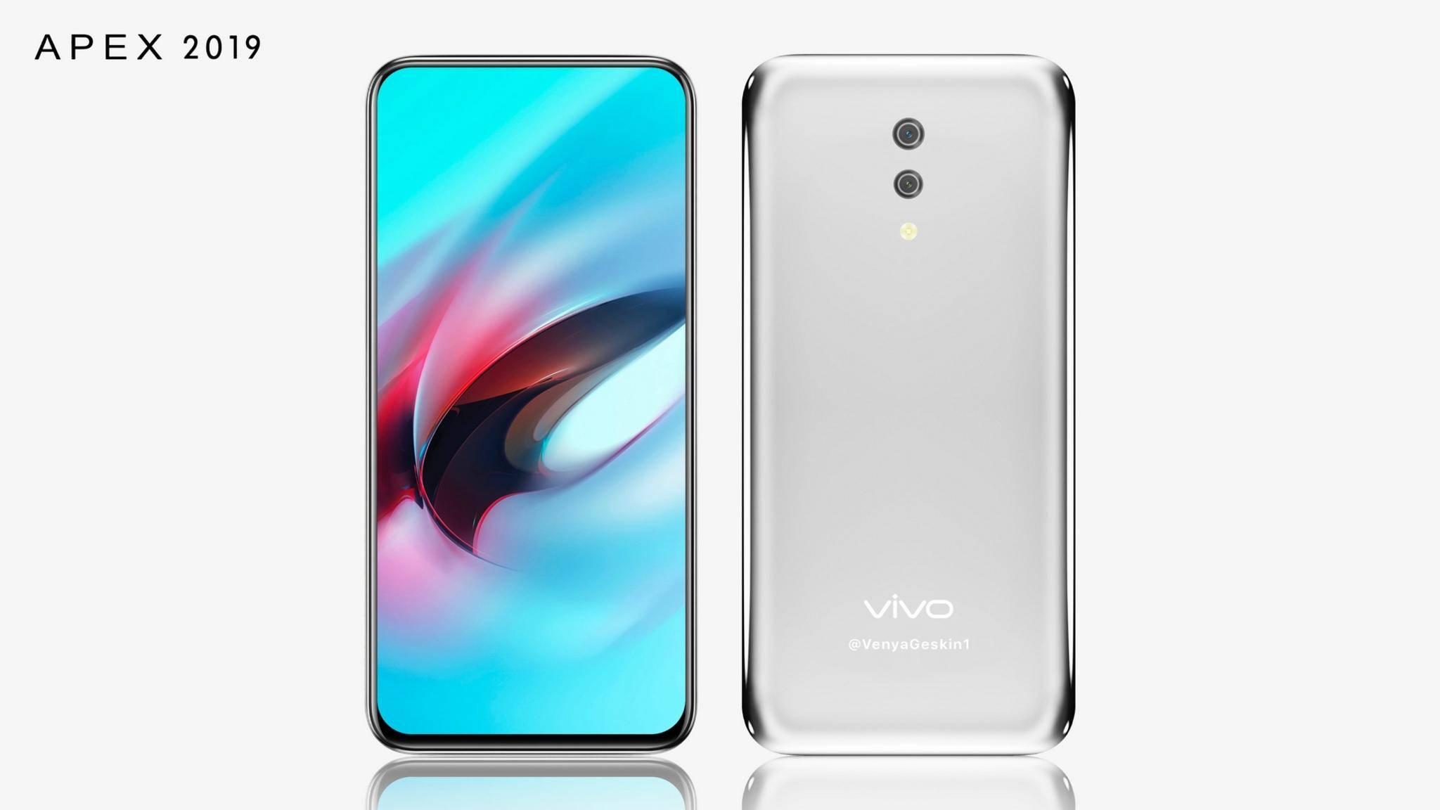 """So soll also das """"Wassertropfen""""-Smartphone von Vivo aussehen."""