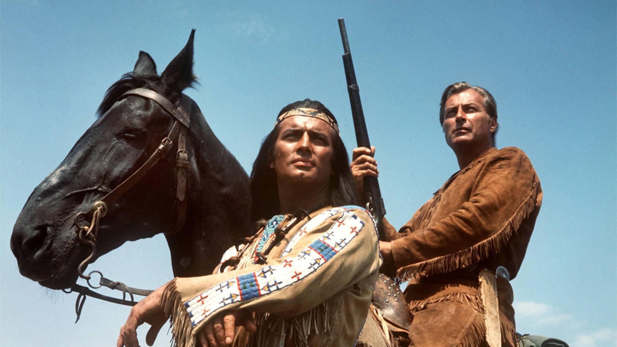 Winnetou (Pierre Brice) und Old Shatterhand (Lex Barker) erlebten zahlreiche literarische und filmische Abenteuer.