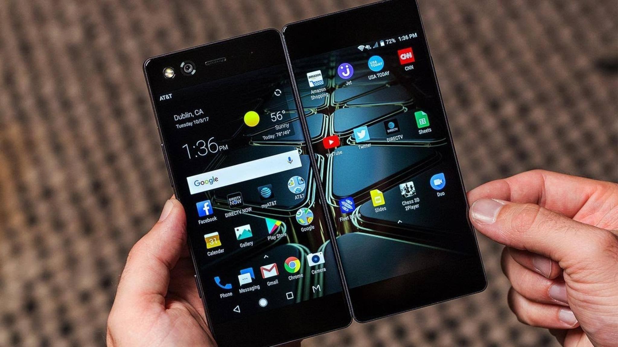 """Das ZTE Axon M ist ein aktuelles """"faltbares"""" Smartphone."""