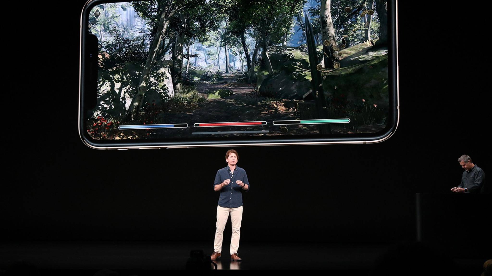 Todd Howard von Bethesda bei der Apple Keynote 2018.