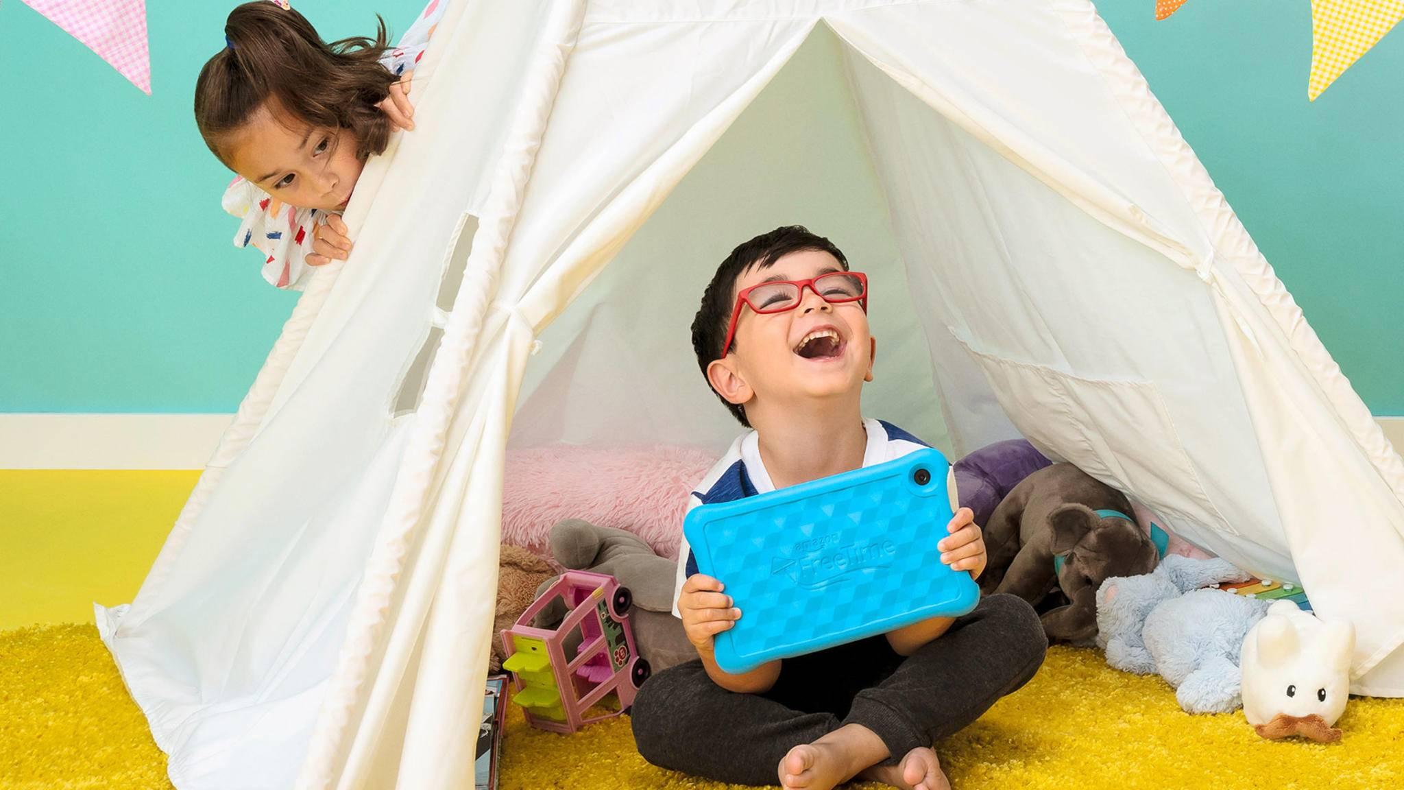 Spezielle Kinder-Tablets sind in der Regel mit einer schützenden Hülle versehen.