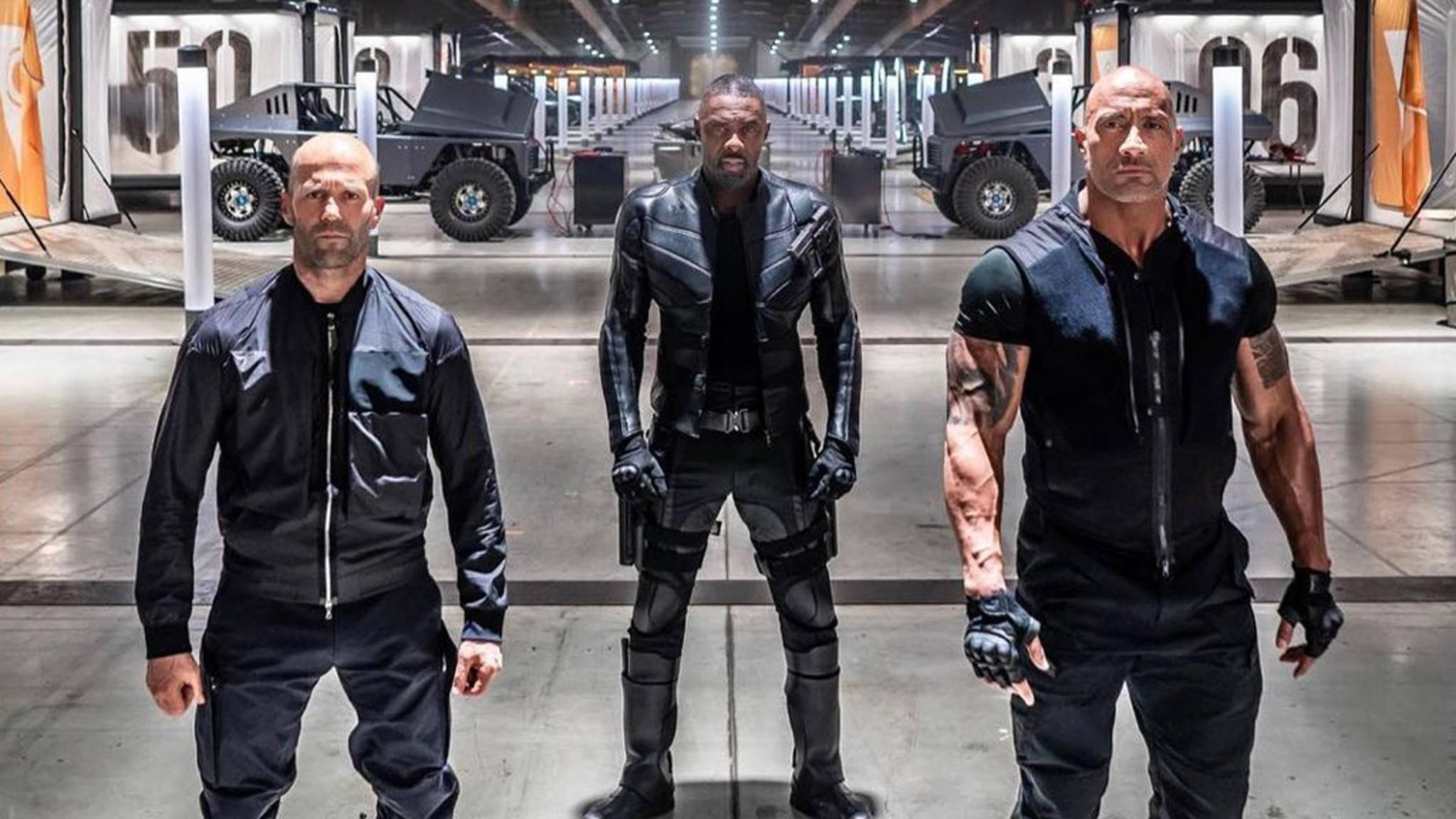 """Geballte Männerpower erwartet die Zuschauer auch im """"Fast & Furious""""-Spin-off."""