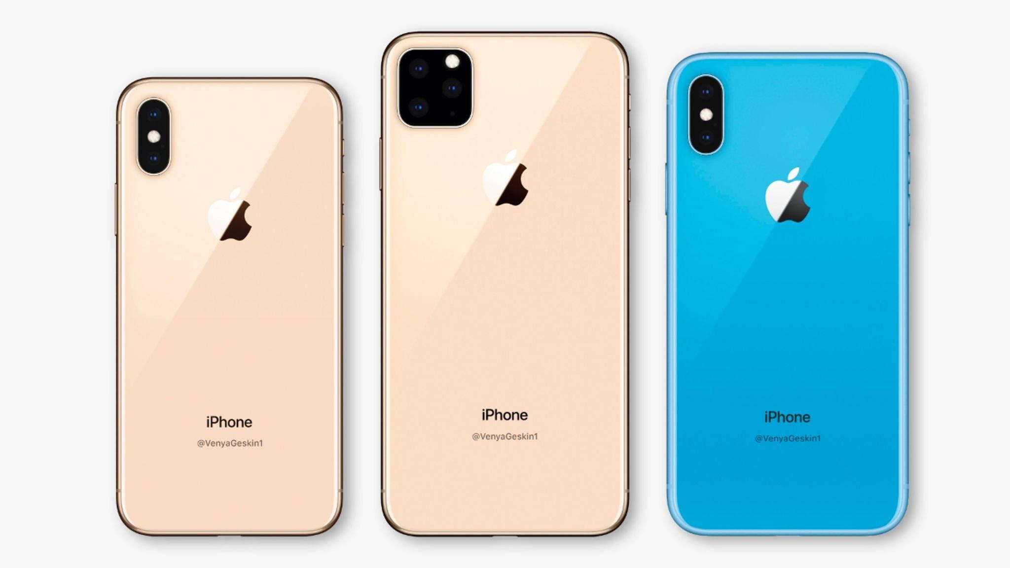 Das iPhone soll auch 2019 wieder in drei Versionen erscheinen.