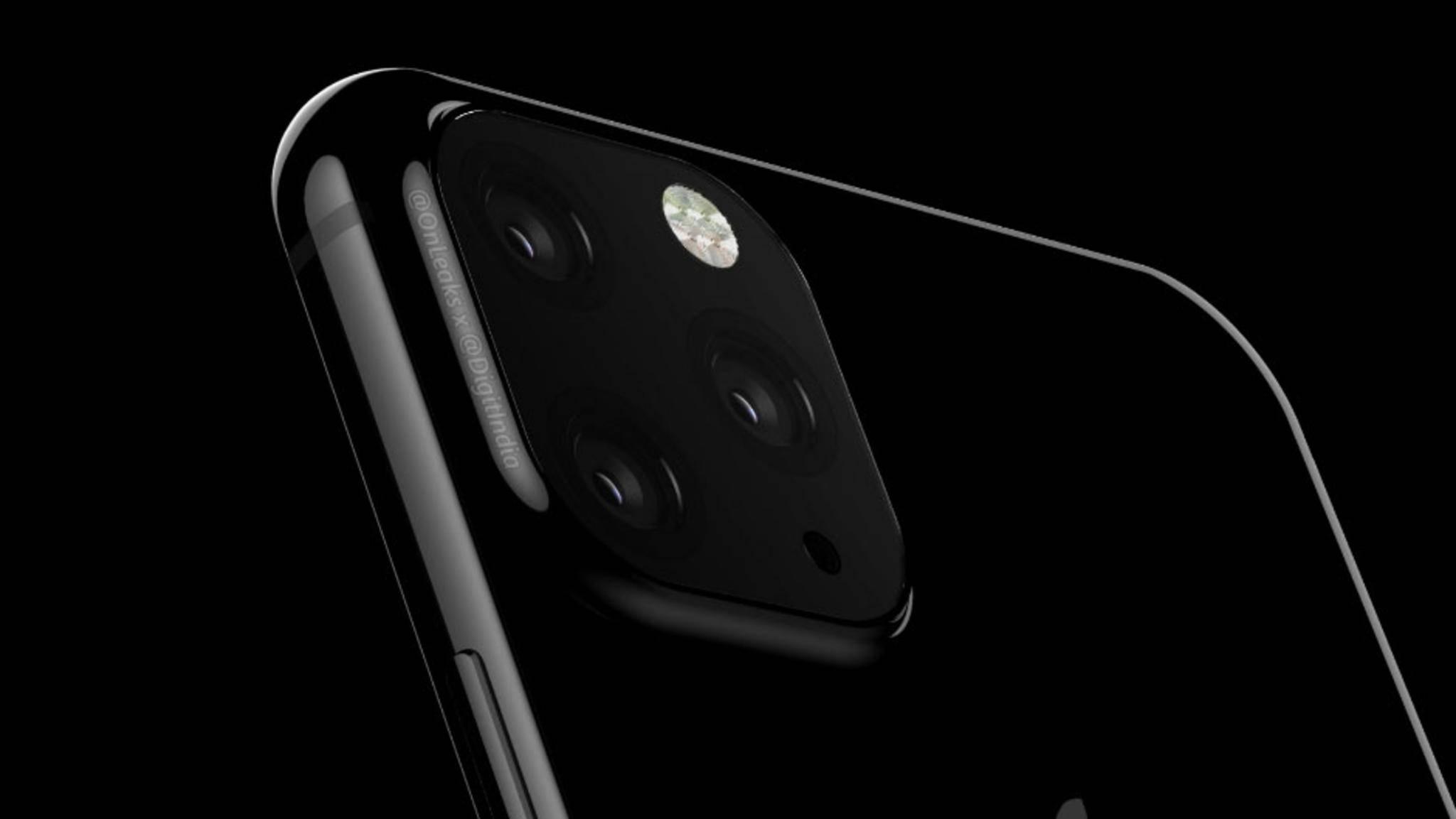 Neue Gussformen eines Case-Hersteller zeigen das iPhone 2019 mit Triple-Kamera in quadratischer Aussparung.