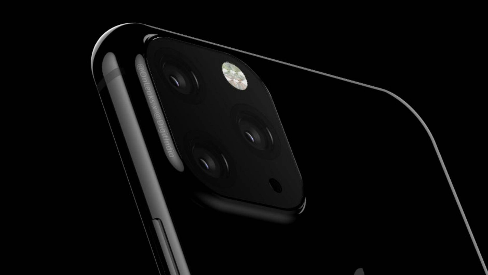 Hat ein Modell des nächsten iPhones tatsächlich eine Triple-Kamera wie in diesem Renderbild?