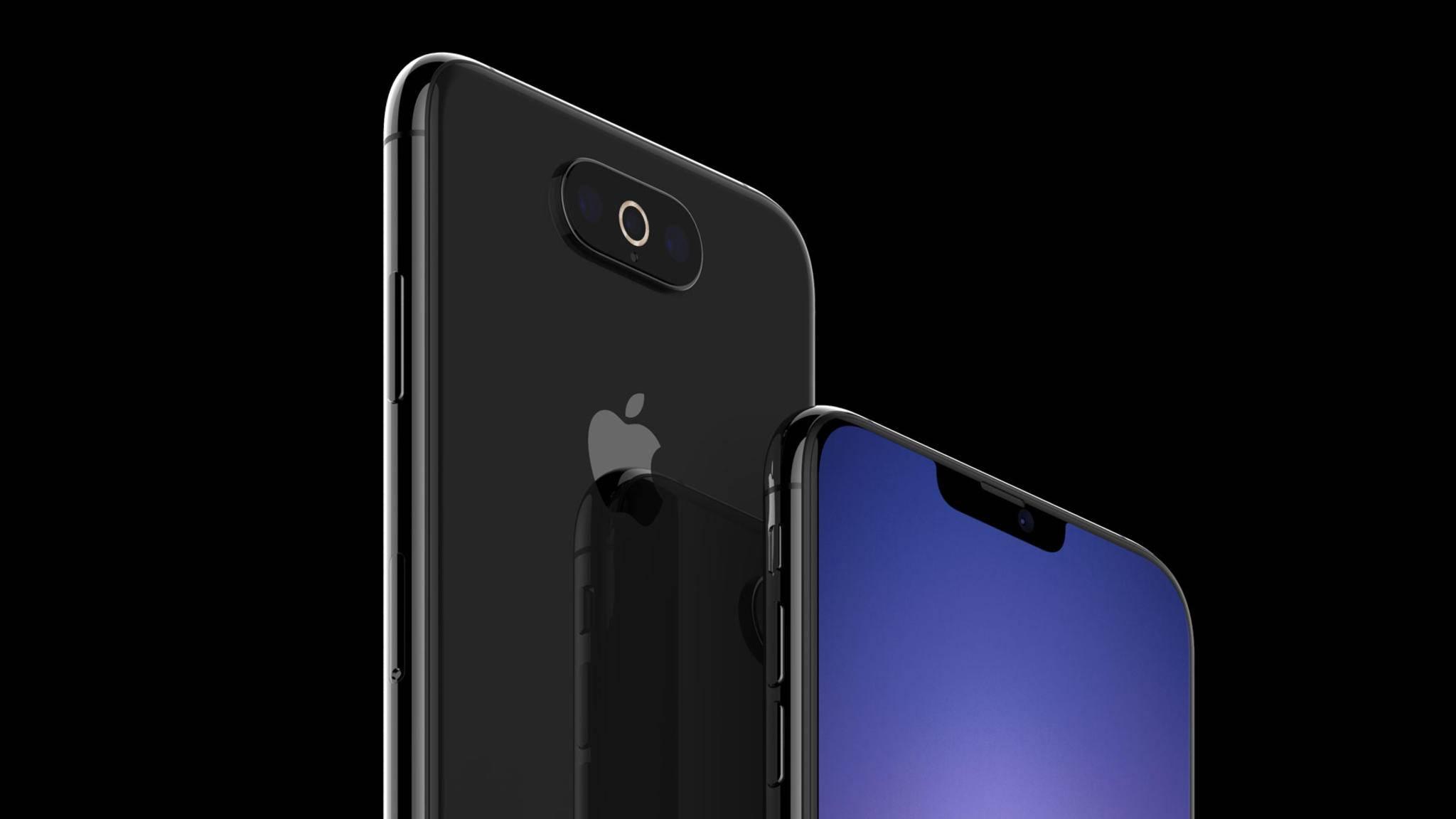 Schmale Notch und zentrierte Triple-Cam: Nur ein mögliches Design für das iPhone 2019.