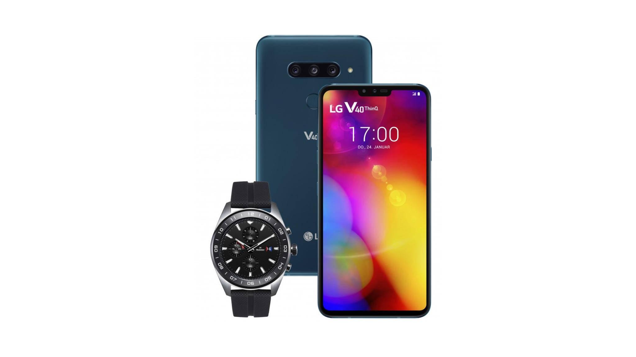 Wer schnell ist, kann beim Kauf des LG V40 ThinQ noch die LG Watch W7 kostenlos abstauben.