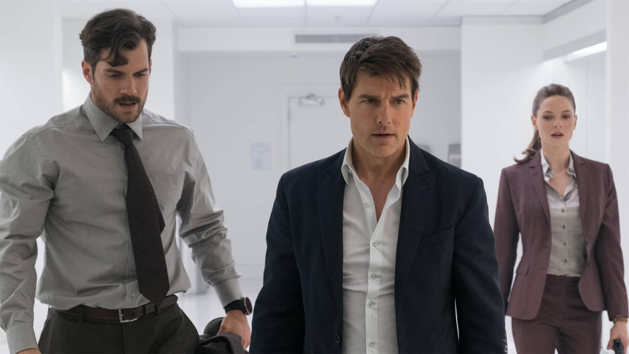 """Ethan Hunt (Mitte) muss sich in """"M:I 7"""" gegen einen neuen Fiesling behaupten, denn der ist nicht mehr Walker (Henry Cavill)."""