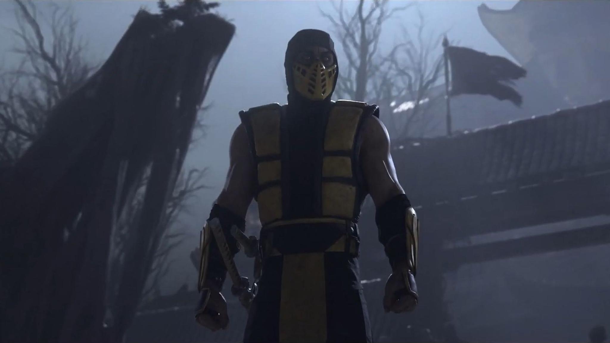 """Gelb, grimmig, gammelig: So kennen und lieben wir Scorpion aus """"Mortal Kombat""""."""