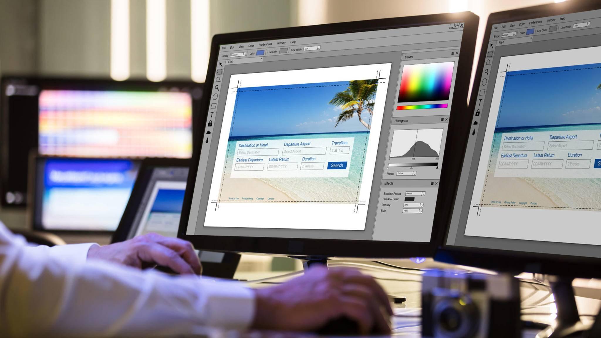 Profis nutzen einen dedizierten Monitor für Bildbearbeitung.