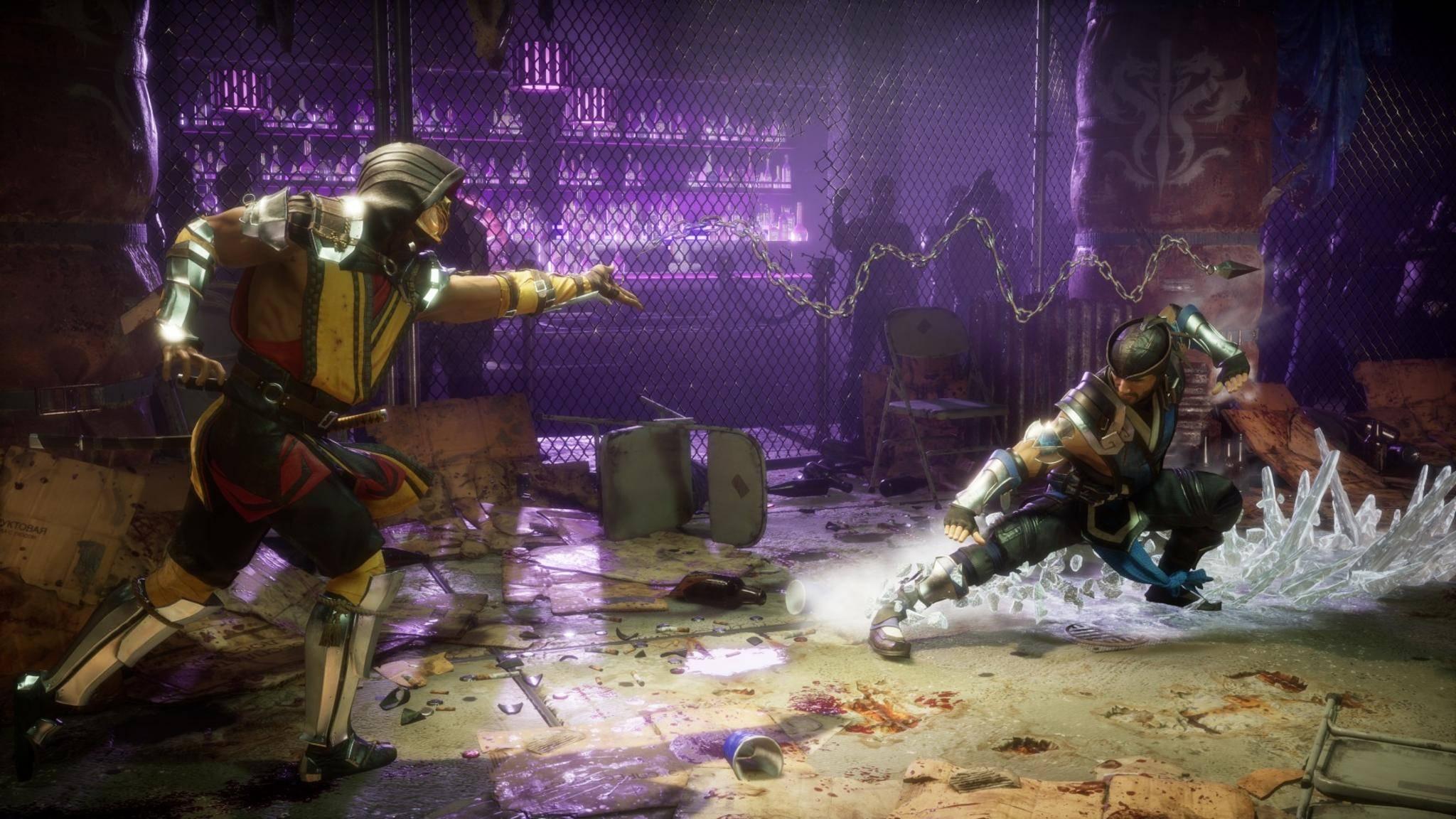 Scorpion (links) lässt auch auf der Leinwand seine Ninja-Skills spielen.