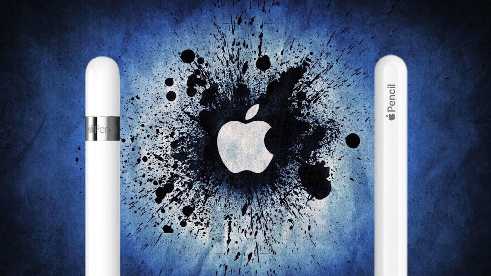 Links im Bild die erste Generation und rechts die neue Generation des Apple Pencil.