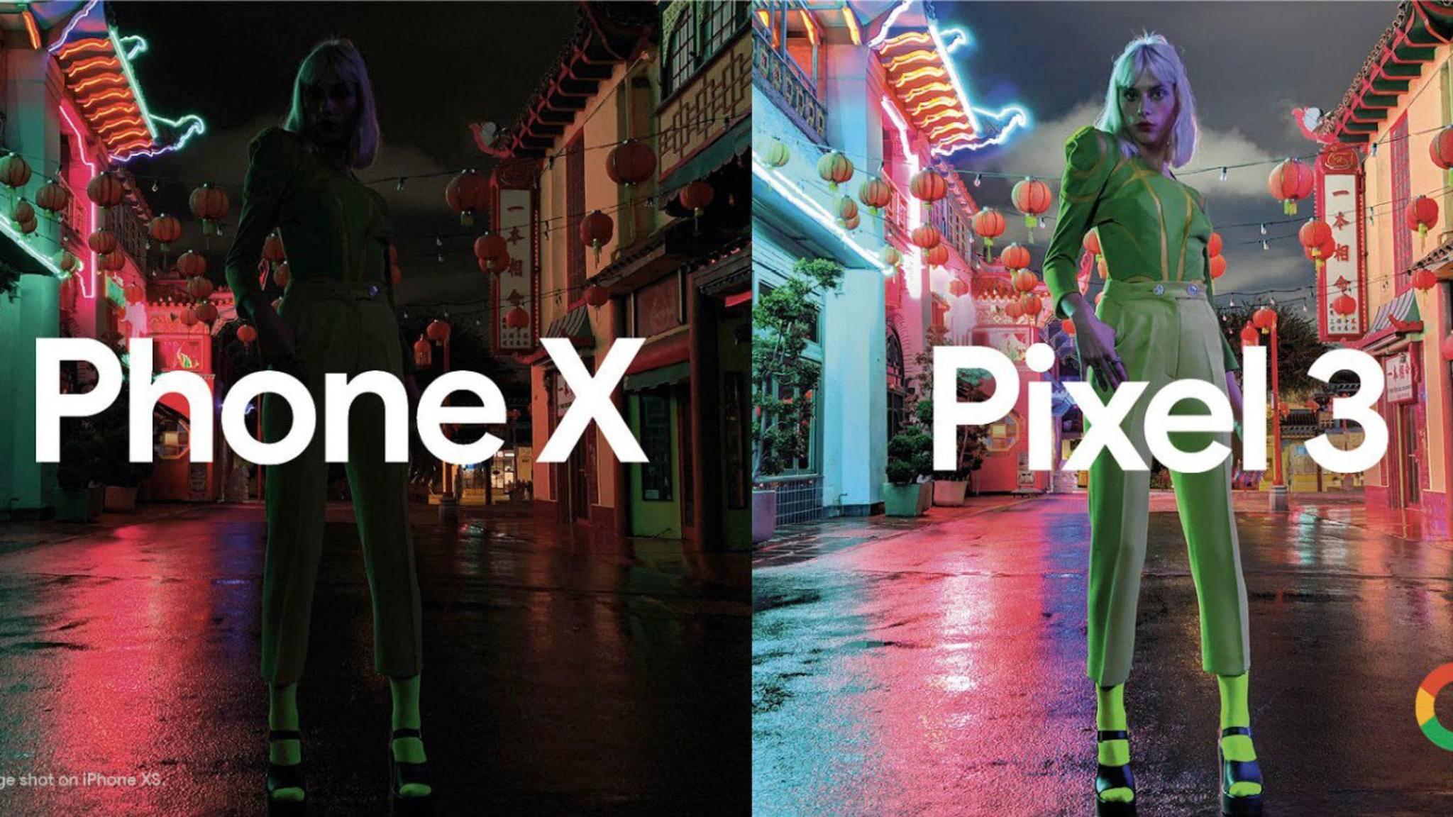 In Low-Light-Situationen hat das Pixel 3 die Nase deutlich vorn.