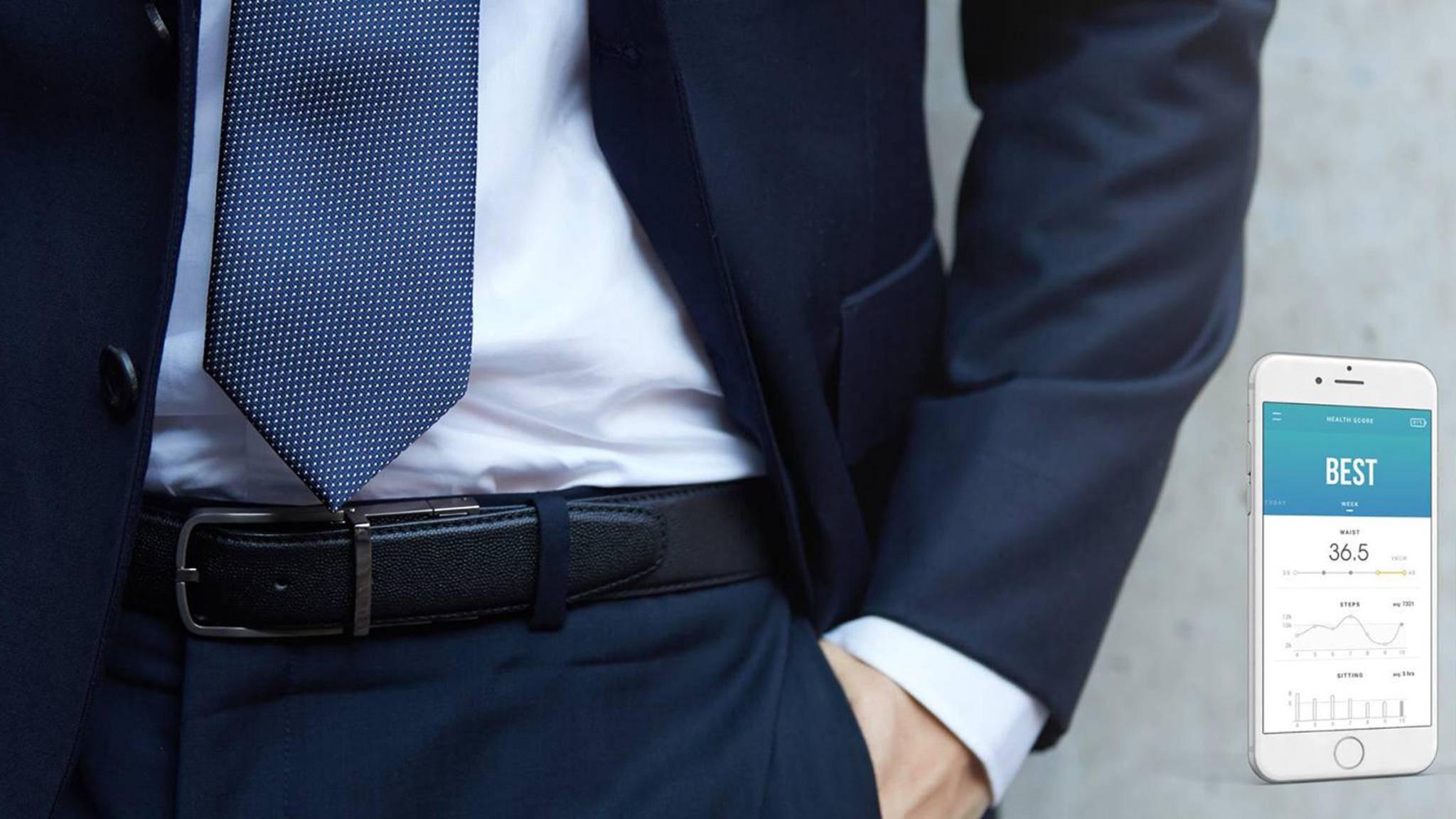 Der smarte Gürtel Welt ist ein dezenter Fitness-Tracker.