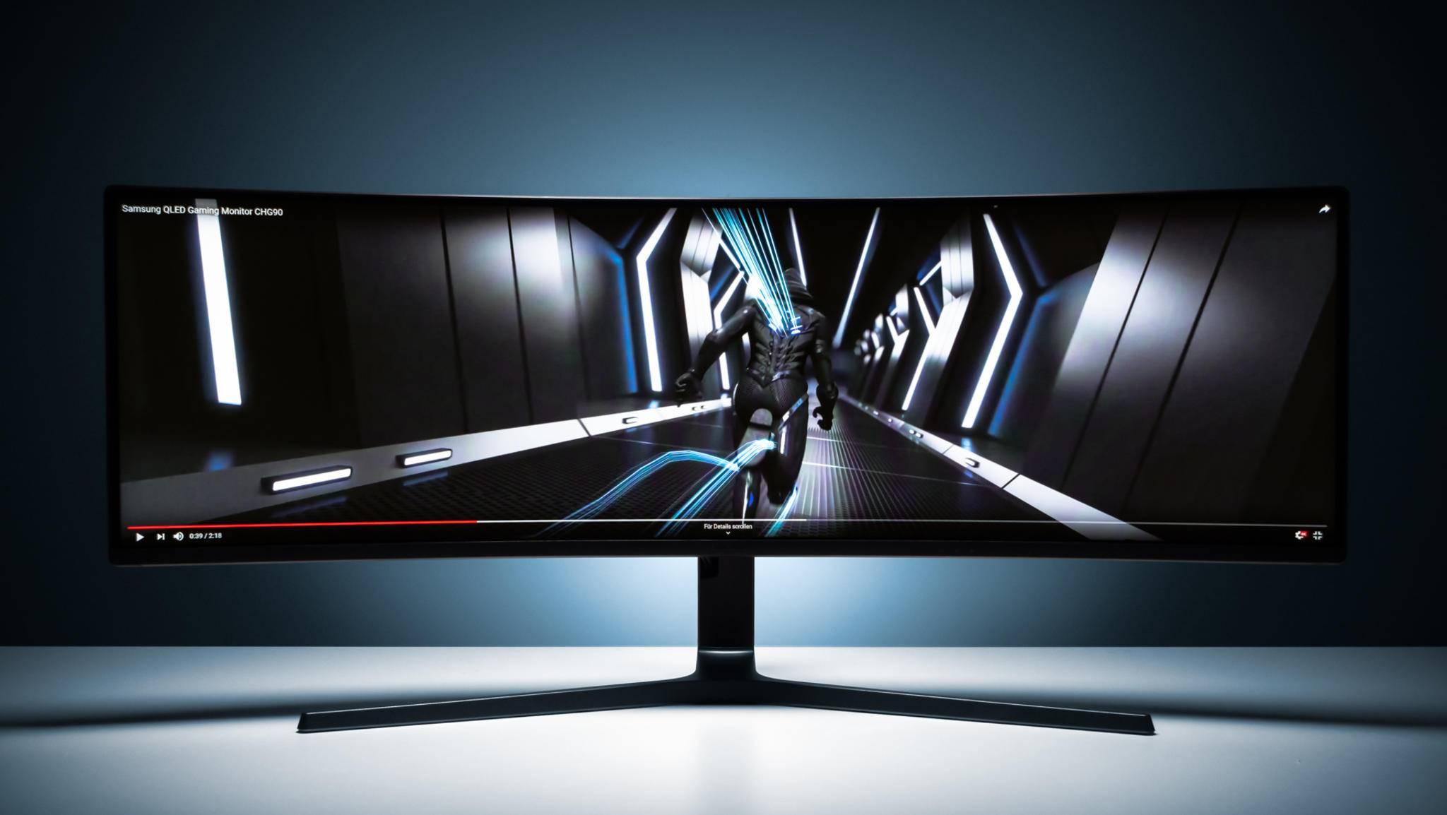 Der Samsung C49HG90 ist ein Monitor der Superlative.