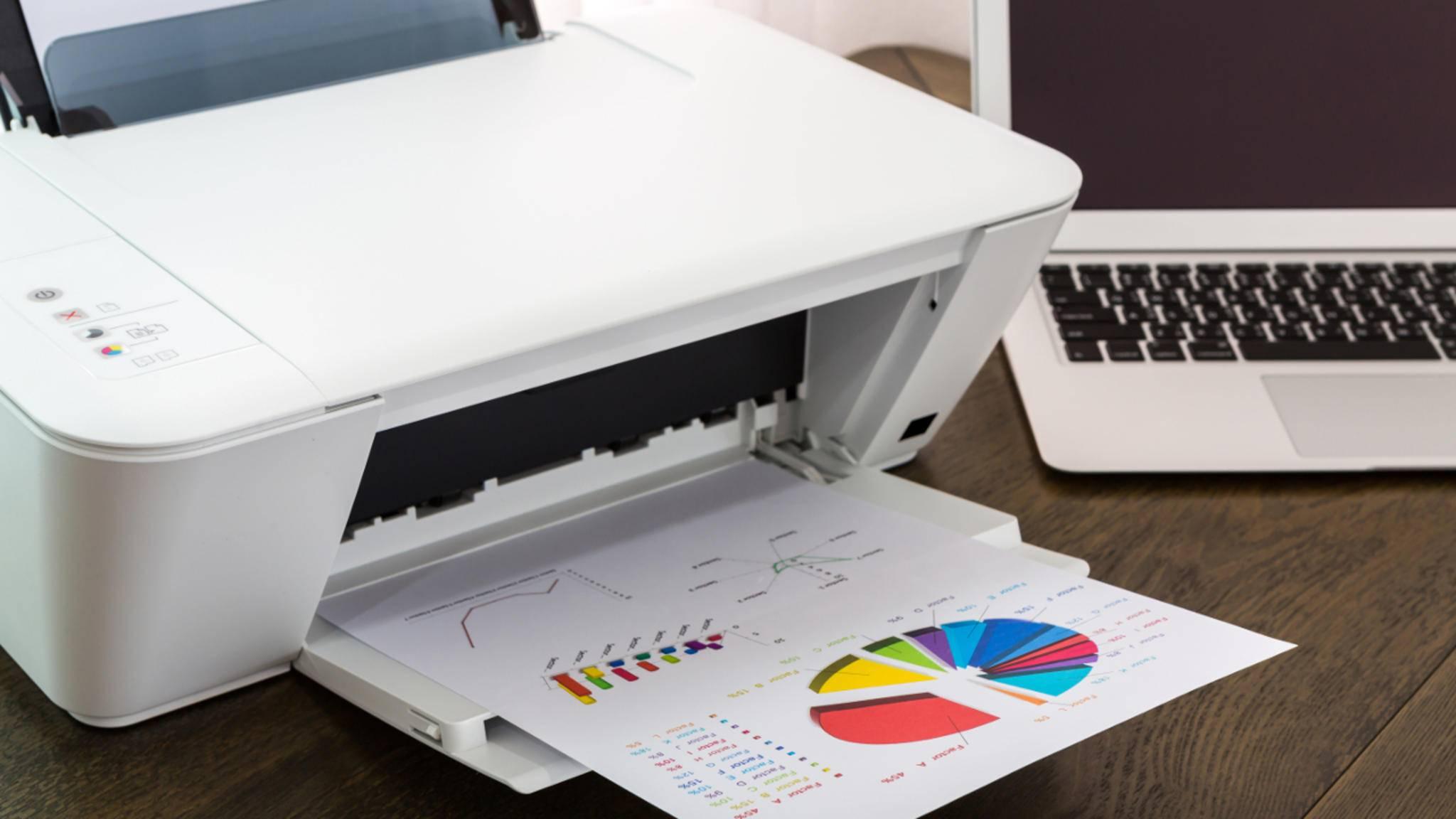 Dokumente und Fotos gelangen via AirPrint im Nu an kompatible Drucker.