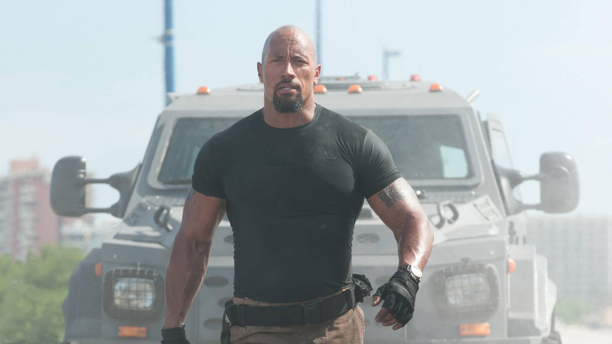 "Dwayne Johnson als Hobbs in ""Fast & Furious 5"""