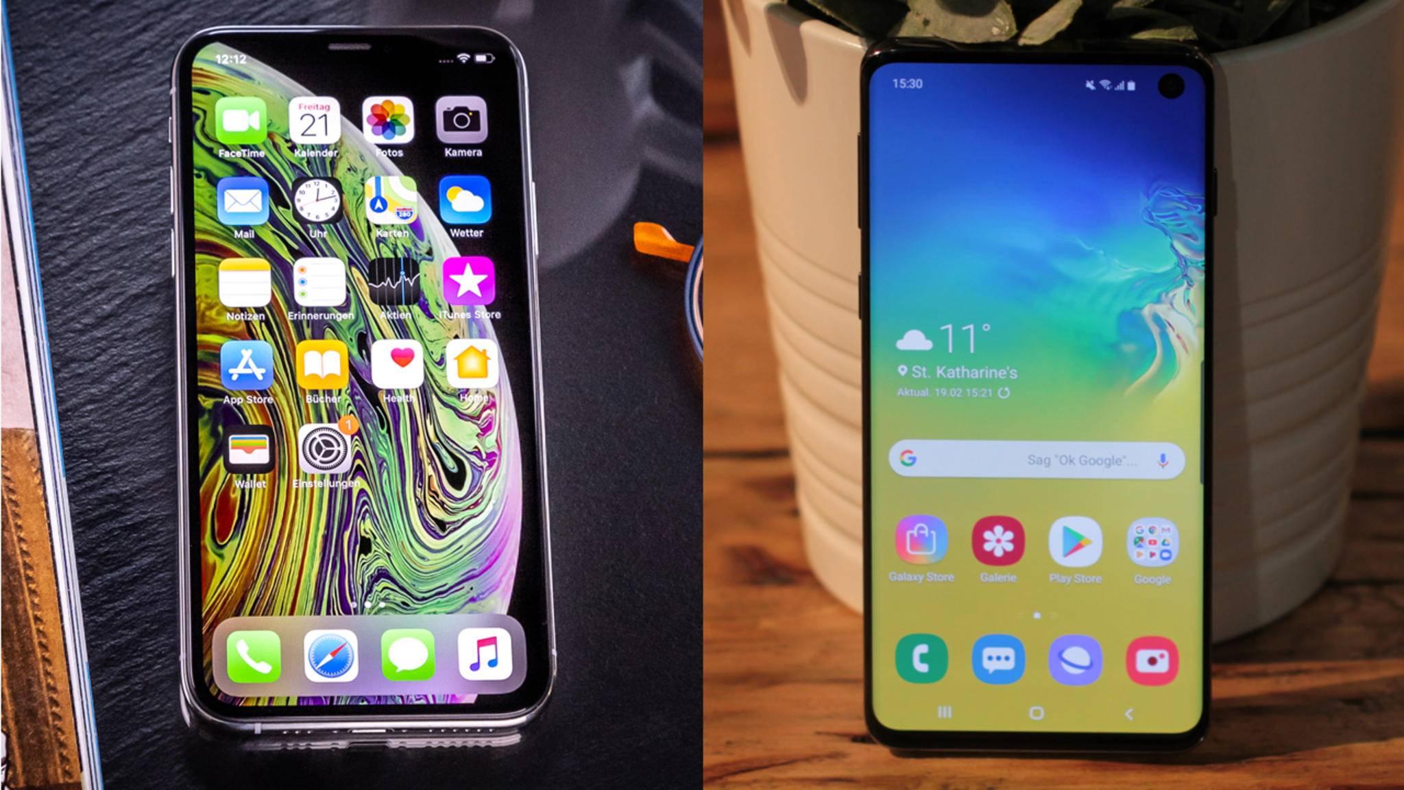 Wie schlägt sich das neue Galaxy S10 im Vergleich mit Apples iPhone XS?