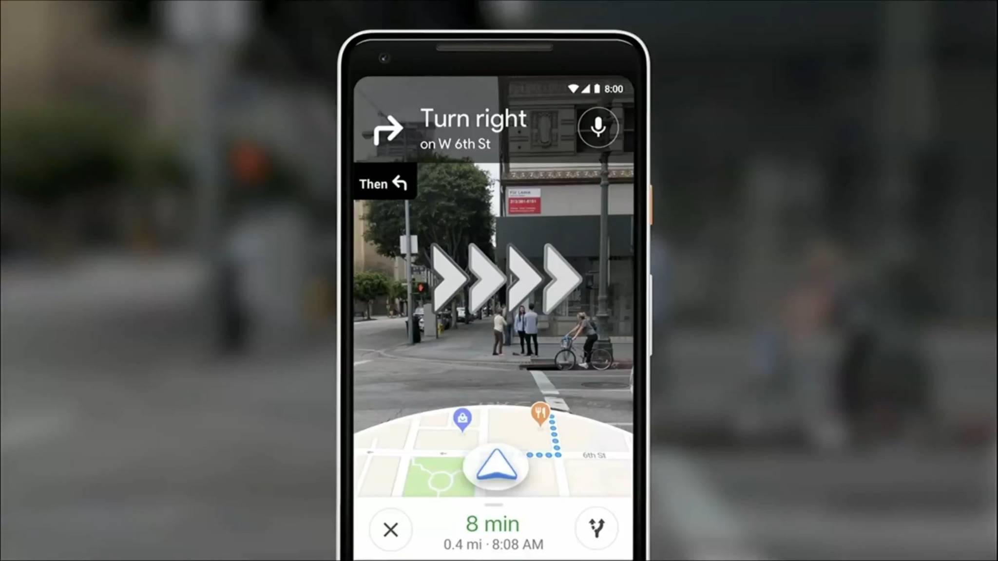 Ausgewählte Local Guides dürfen bald Google Maps AR testen.