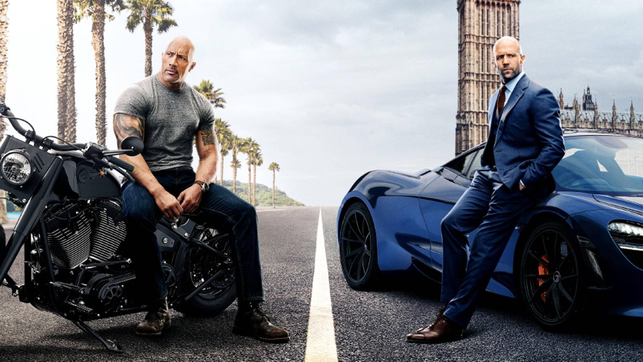 Sie können nicht mit- aber auch nicht ohne einander: Hobbs (Dwayne Johnson) und Shaw (Jason Statham).