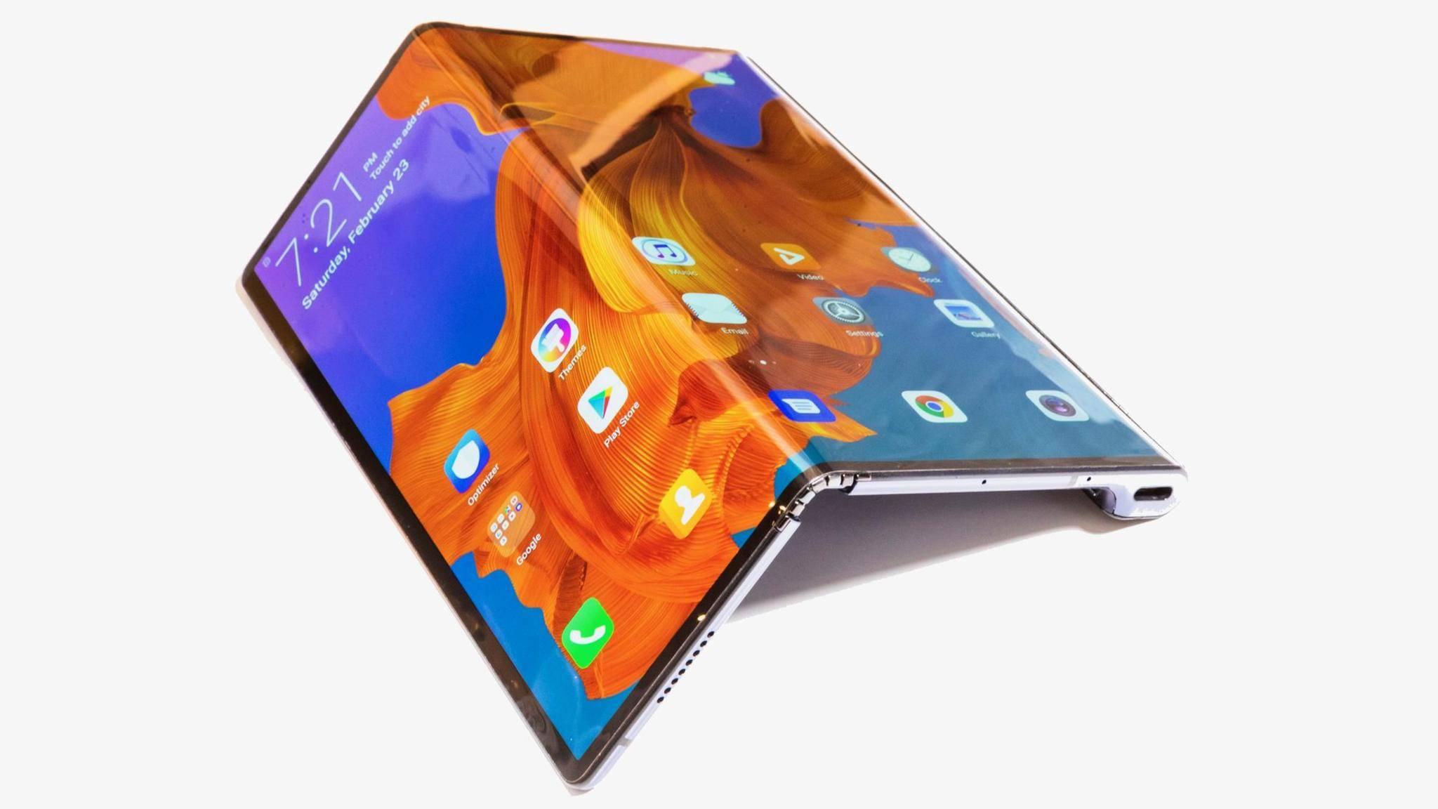 Beim nächsten faltbaren Smartphone will sich Samsung angeblich vom Huawei Mate X (Foto) inspirieren lassen.