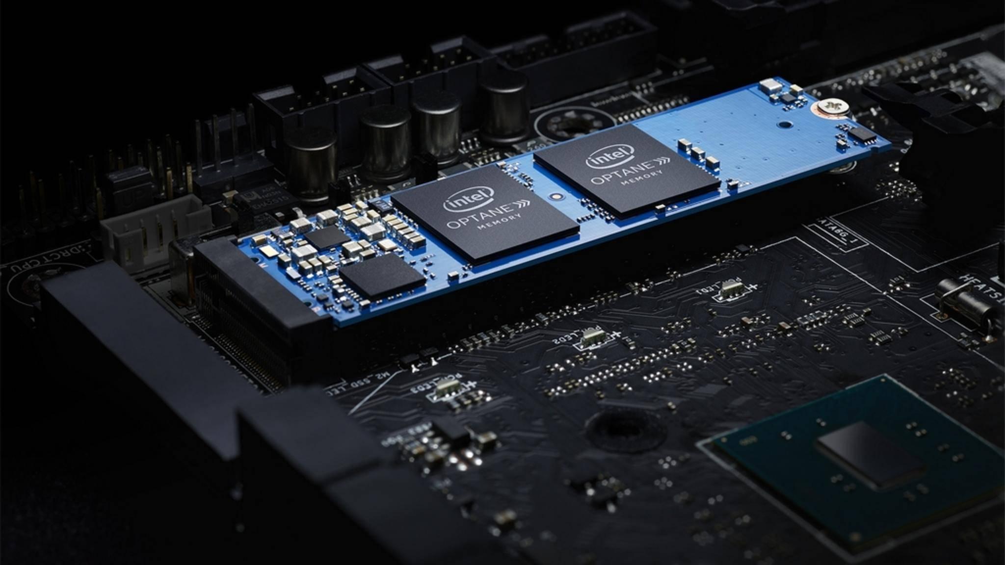 Intel-Optane-Speicher kommen in Form von M.2-Chips zum Einsatz.